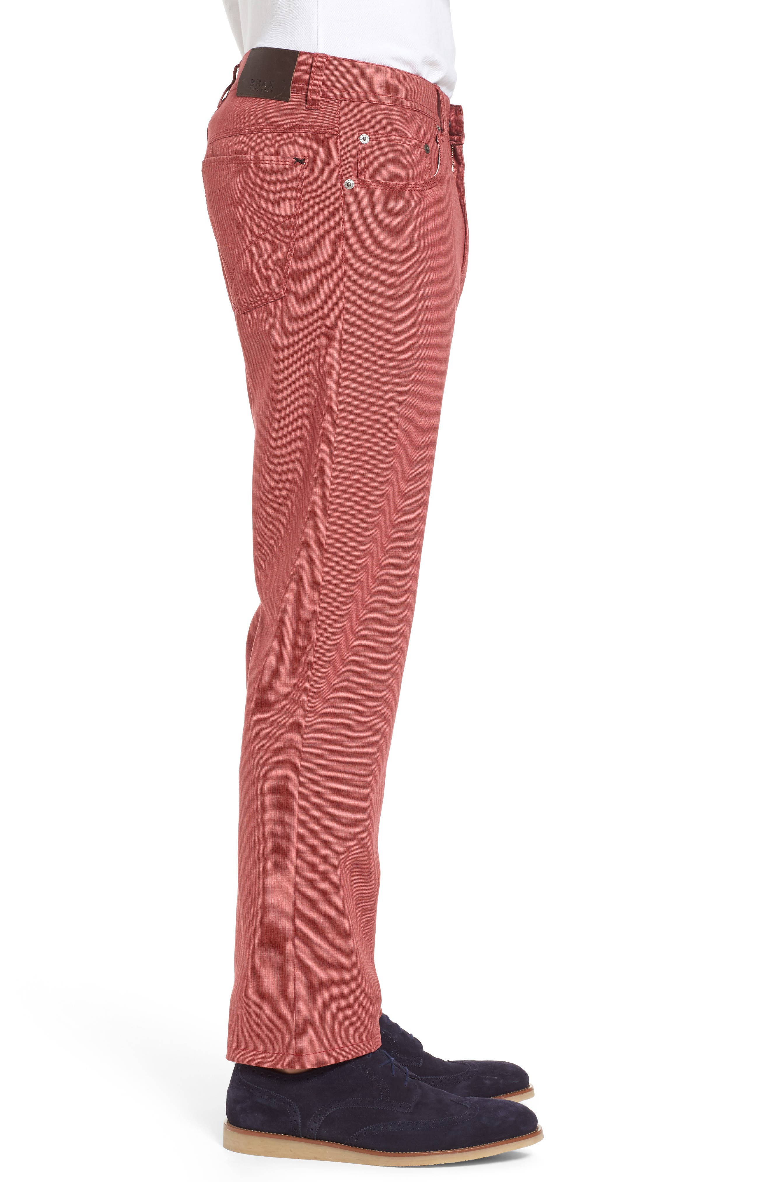Sensation Stretch Trousers,                             Alternate thumbnail 3, color,                             Red
