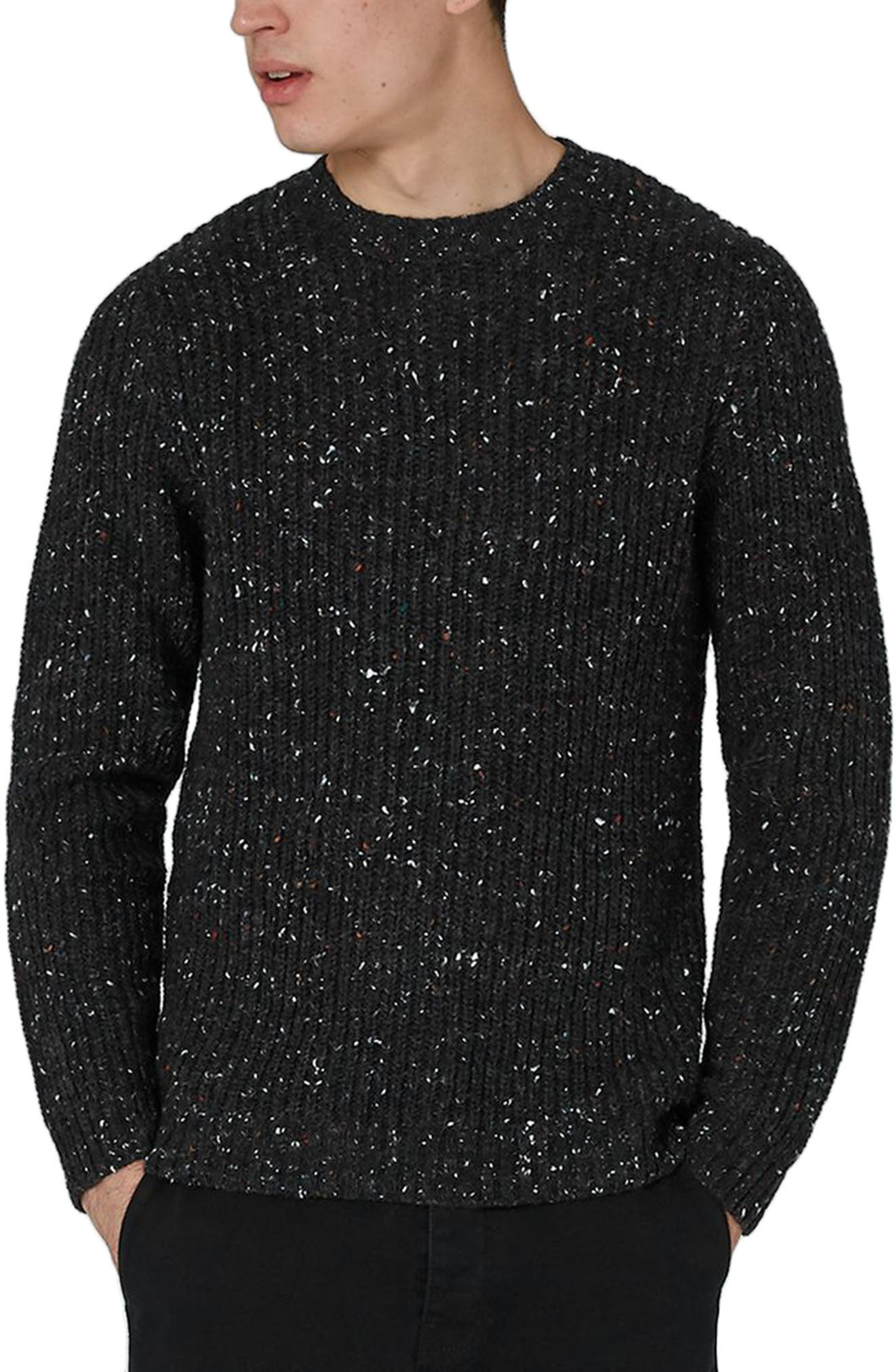 Premium Fisherman Sweater,                             Main thumbnail 1, color,                             Charcoal