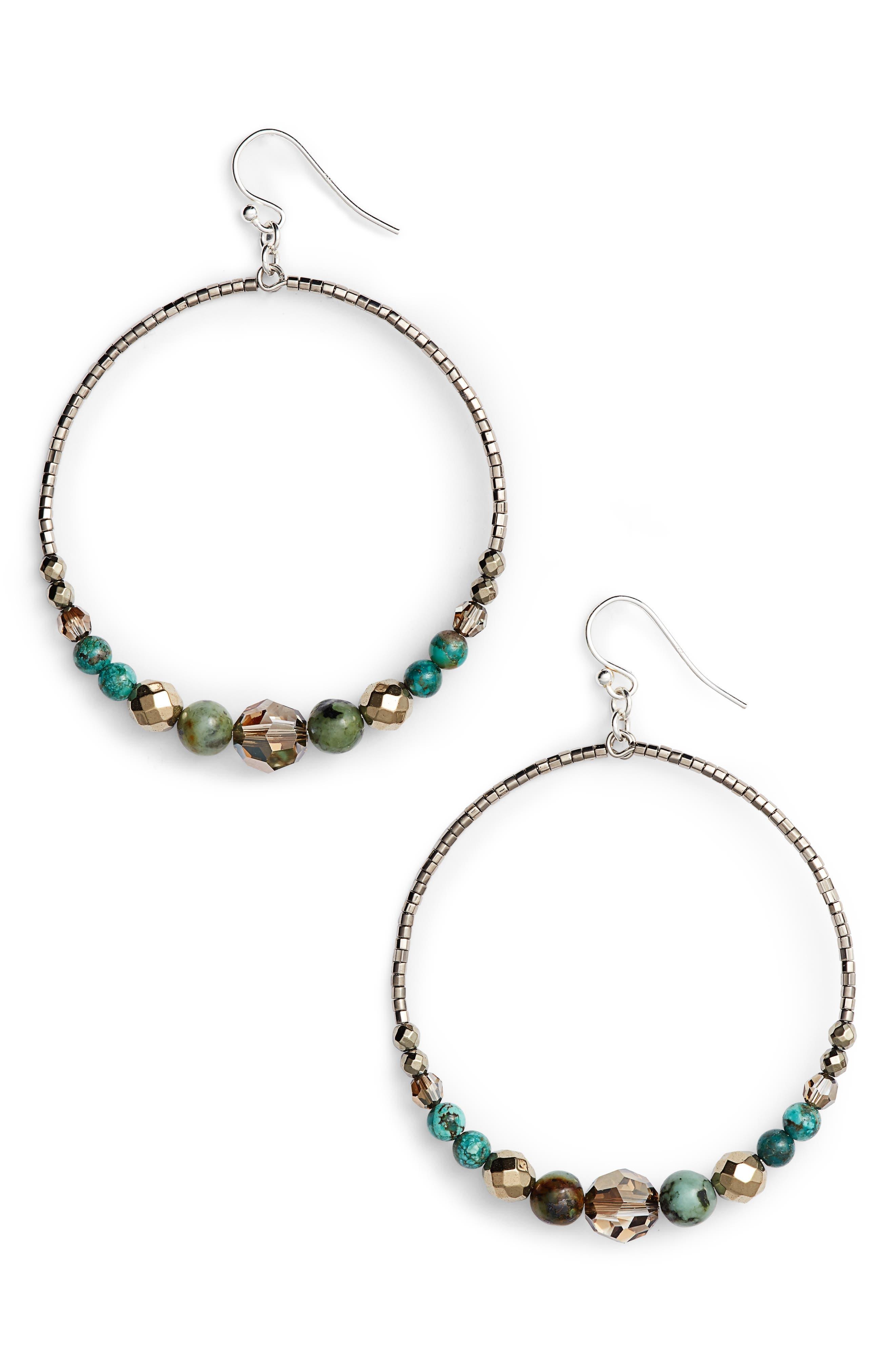 Main Image - Chan Luu Semiprecious Stone Frontal Hoop Earrings