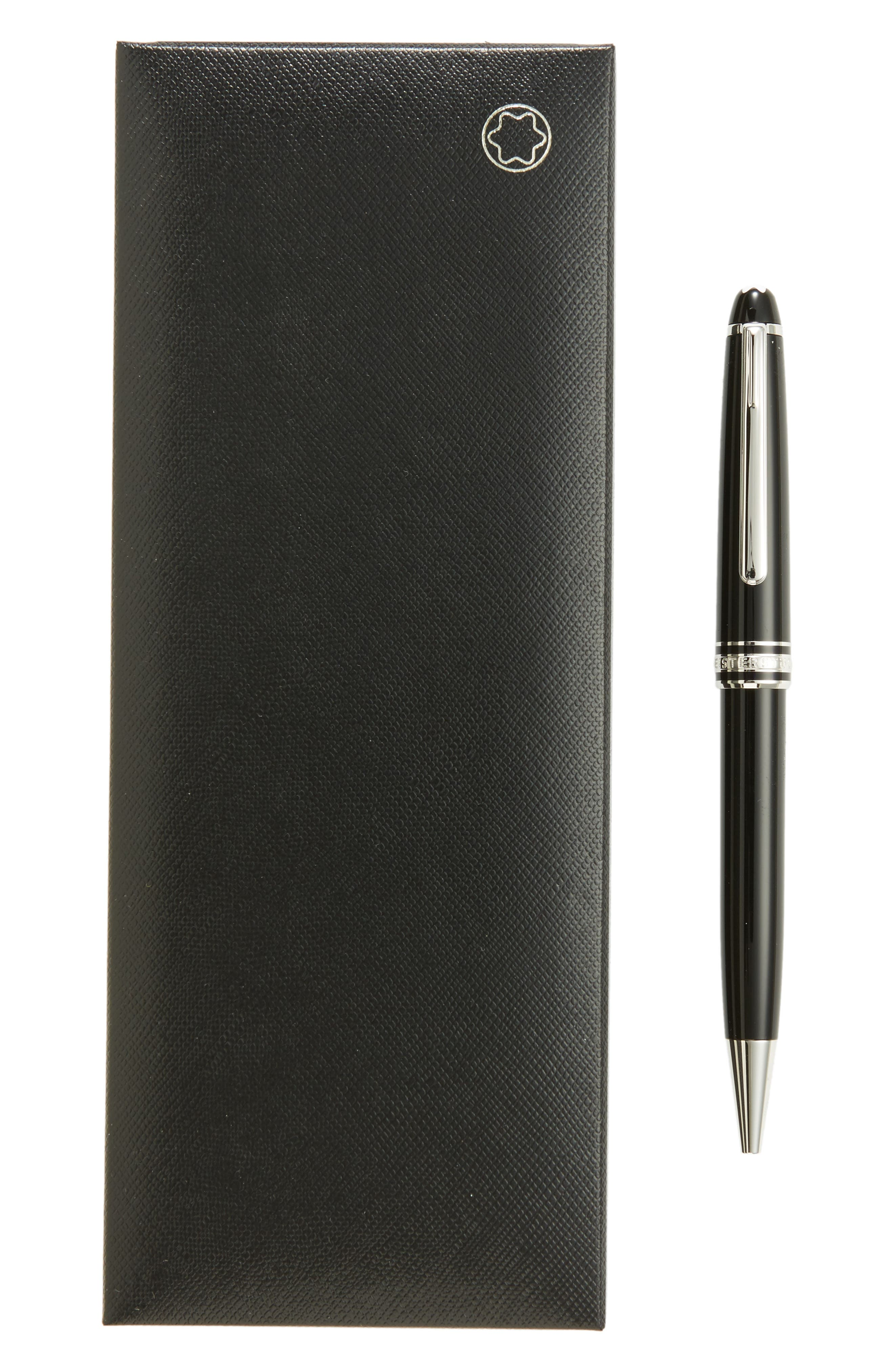 Meisterstück Platinum Coated Classique Ballpoint Pen,                             Alternate thumbnail 2, color,                             Black
