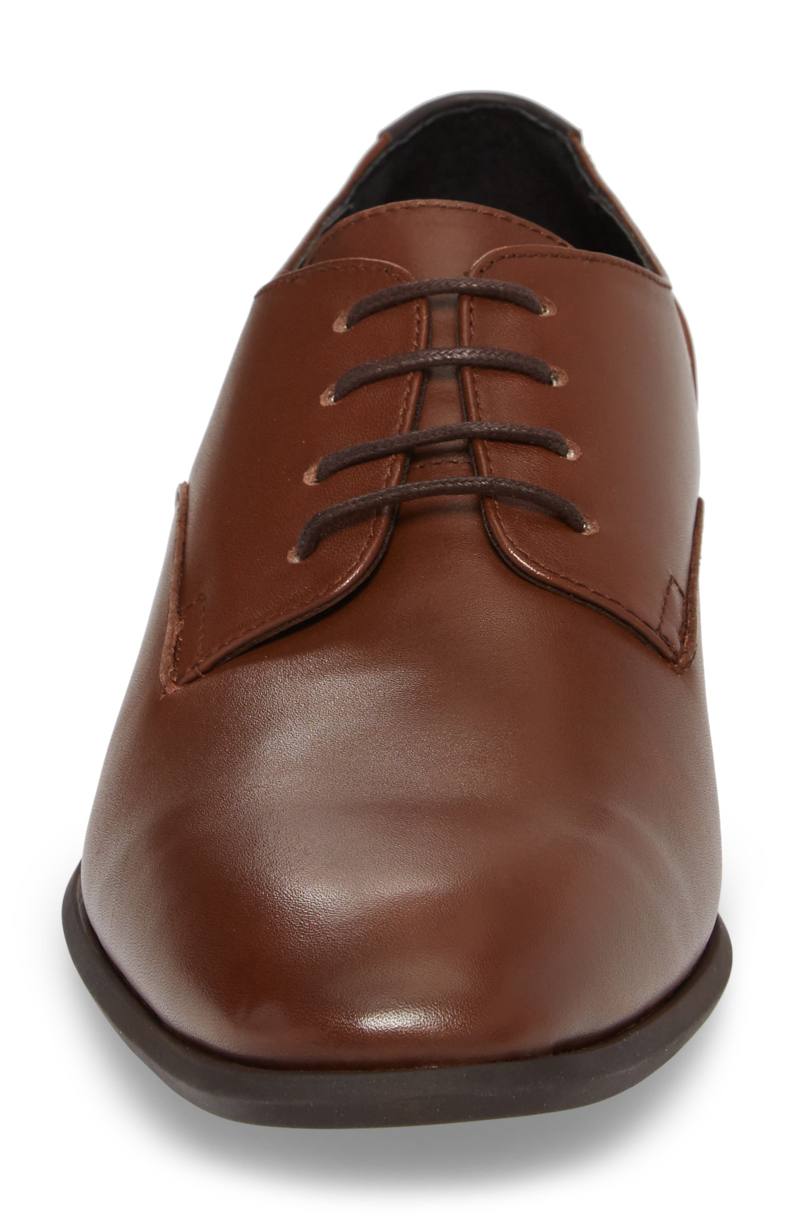 Lucca Plain Toe Derby,                             Alternate thumbnail 4, color,                             Tan Leather