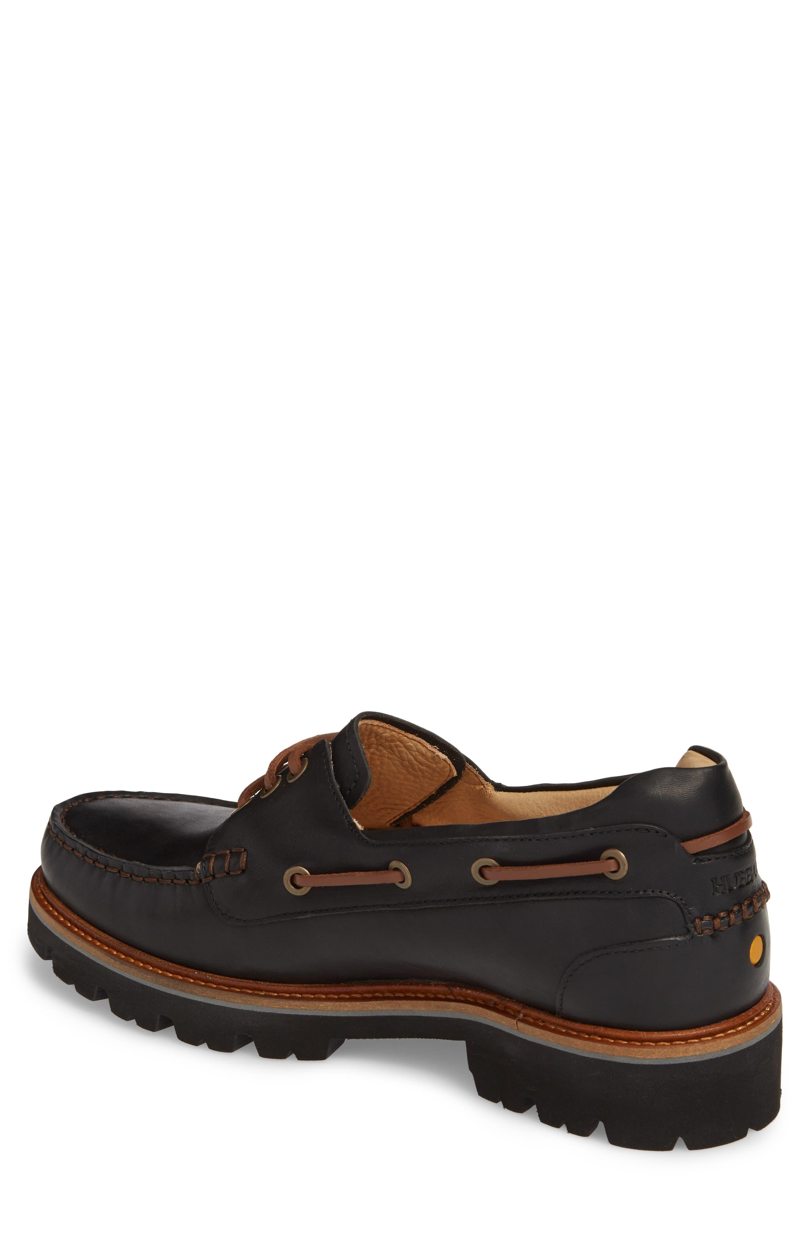 Camplight Water Resistant Boat Shoe,                             Alternate thumbnail 2, color,                             Saddlebag Black Leather