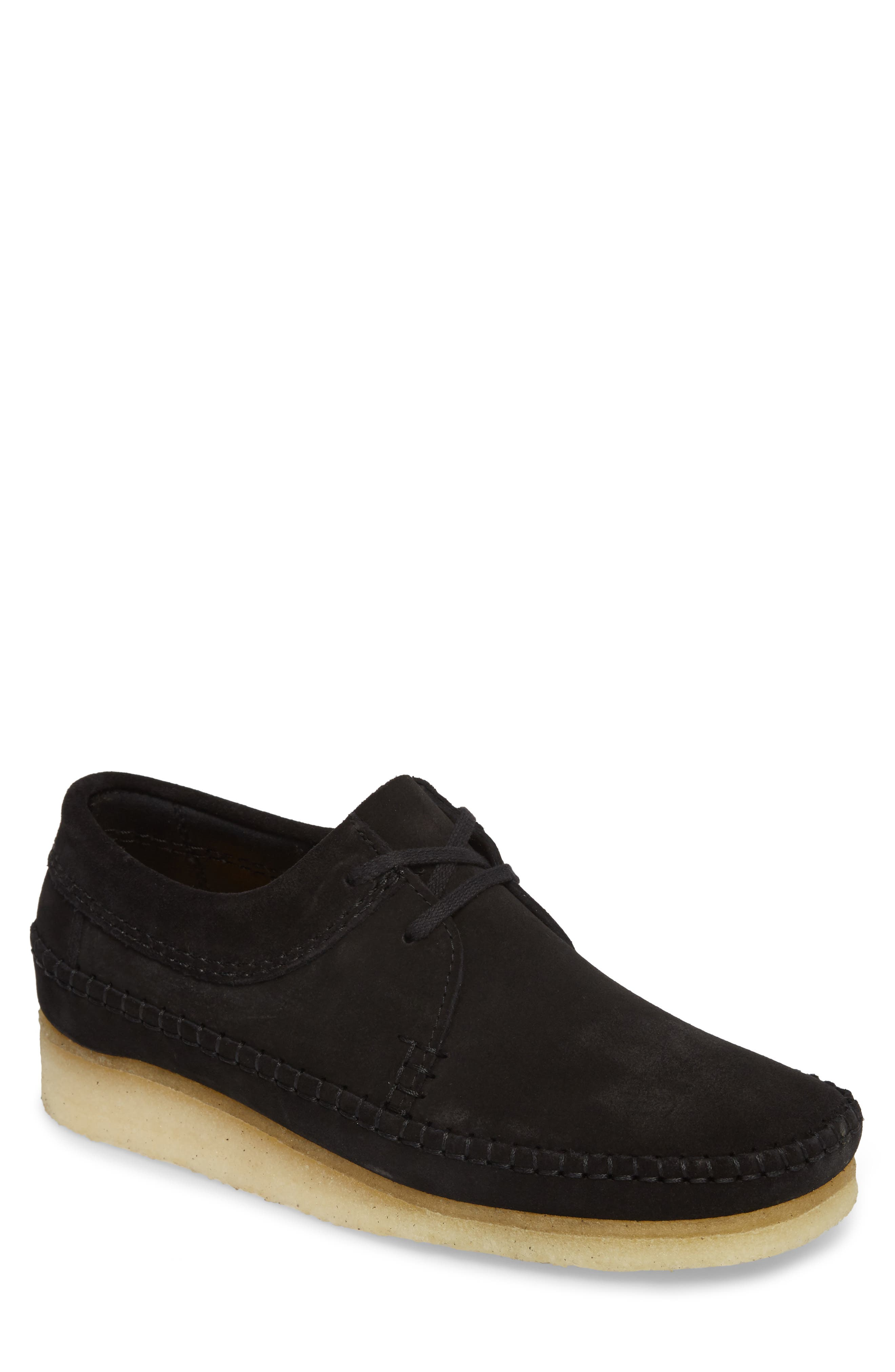 Weaver Moc Toe Derby,                             Main thumbnail 1, color,                             Black Suede