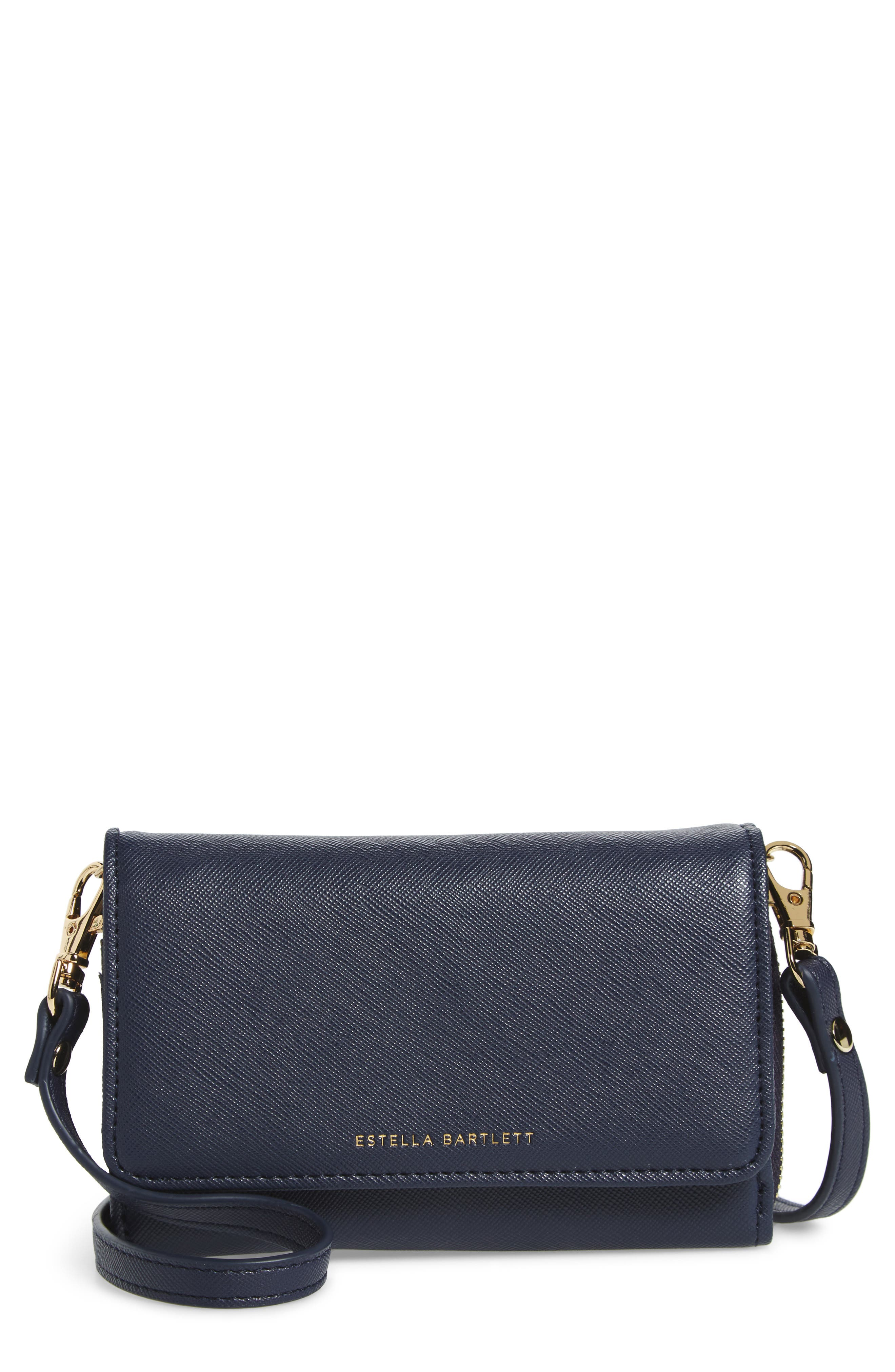 Crossbody Wallet,                         Main,                         color, Navy