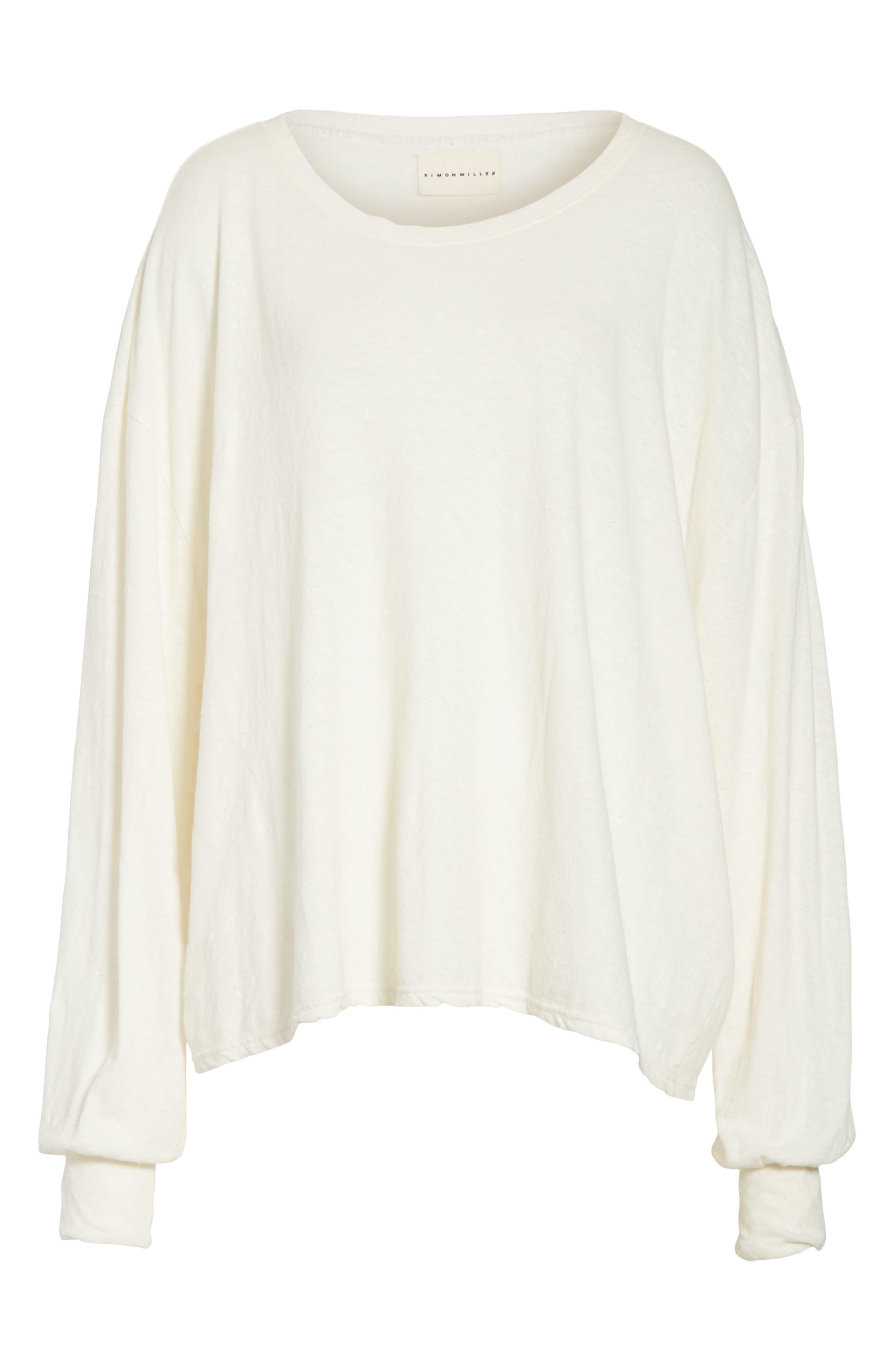 Solano Oversize Cotton Top,                             Alternate thumbnail 6, color,                             White