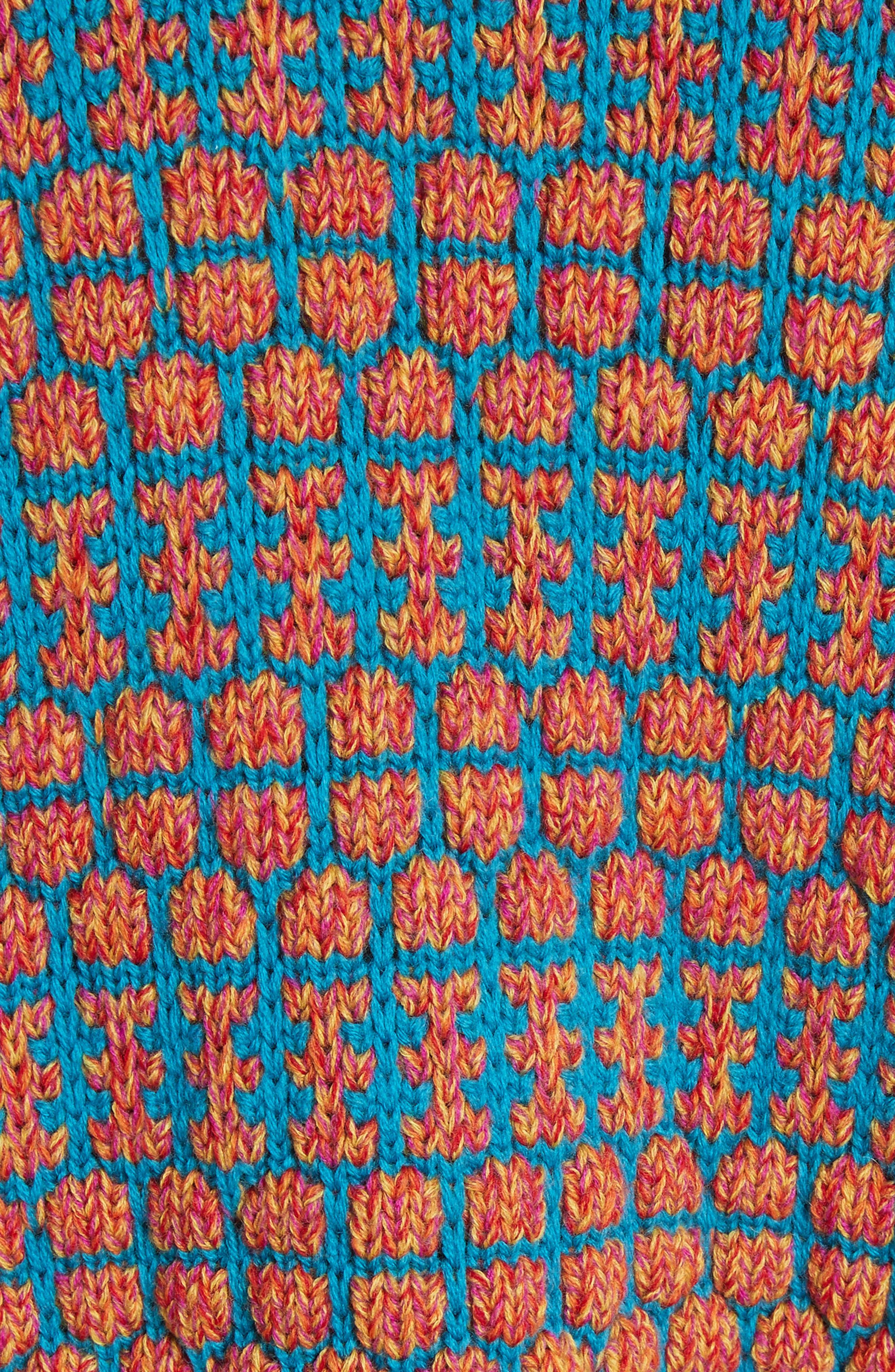 Izee Floral Button Cardigan,                             Alternate thumbnail 5, color,                             Flower Print
