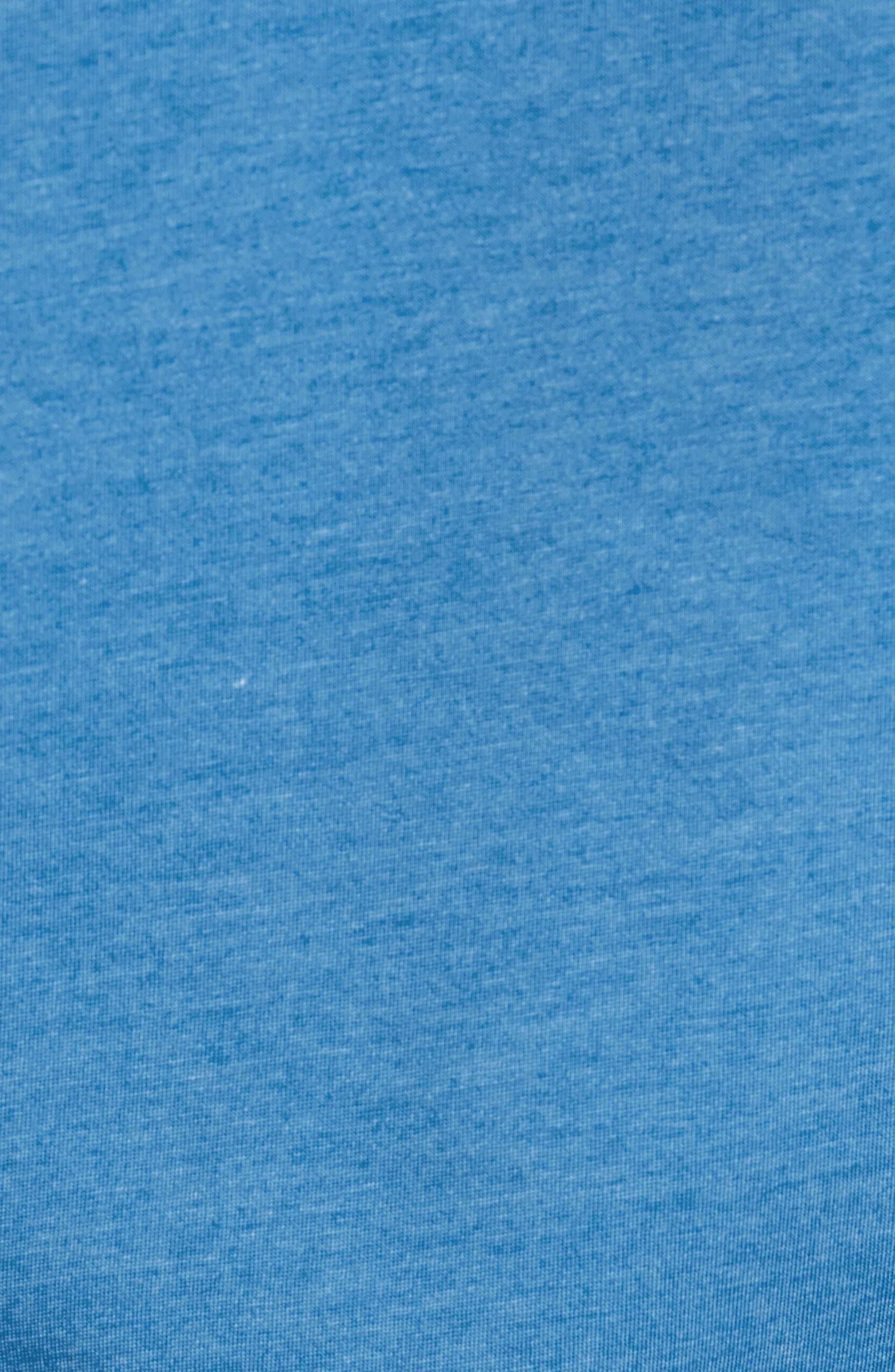 Shep Mesh Performance Yoke Quarter Zip Pullover,                             Alternate thumbnail 5, color,                             Hull Blue