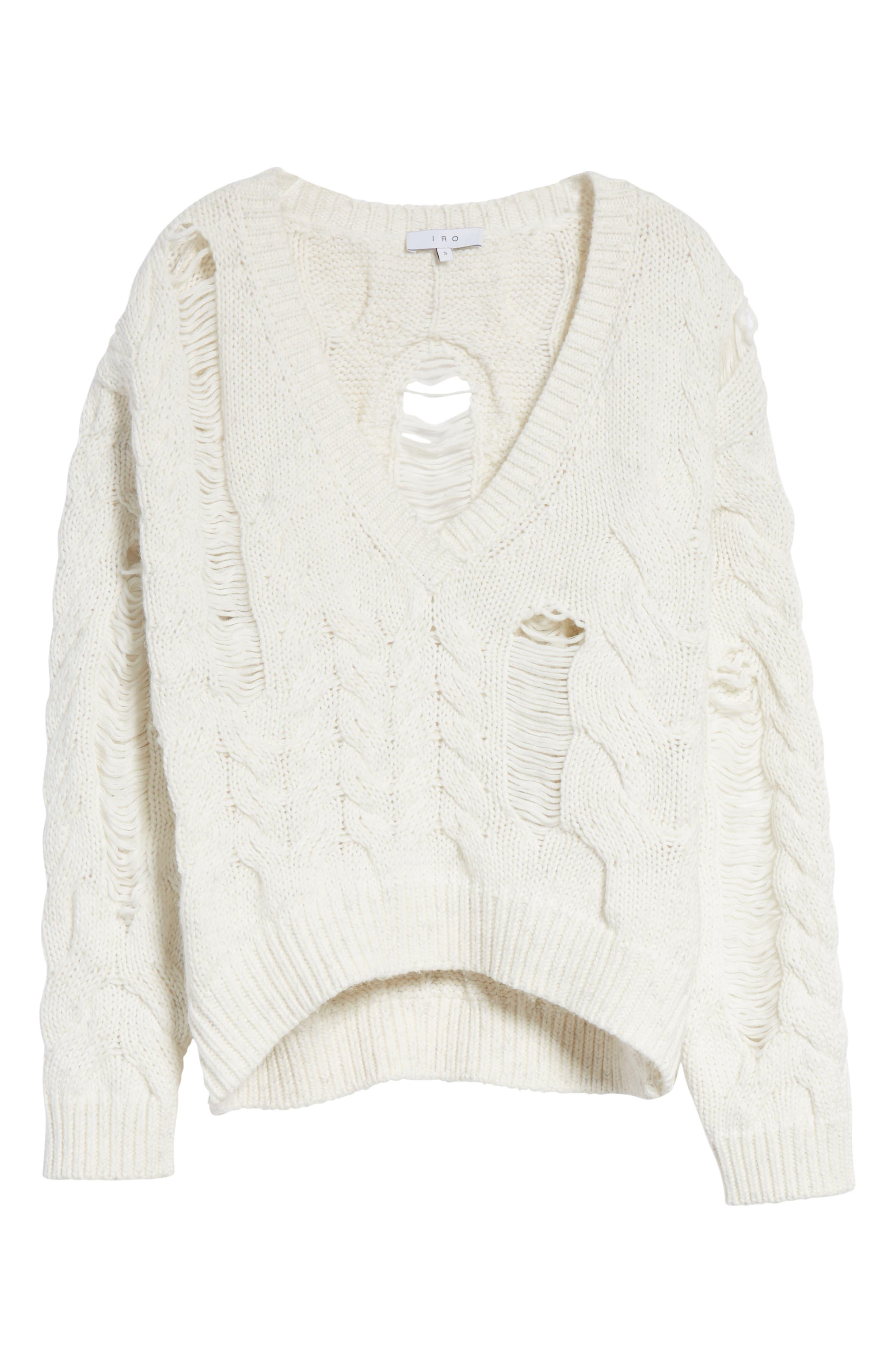 Alternate Image 6  - IRO Fighla Distressed Sweater