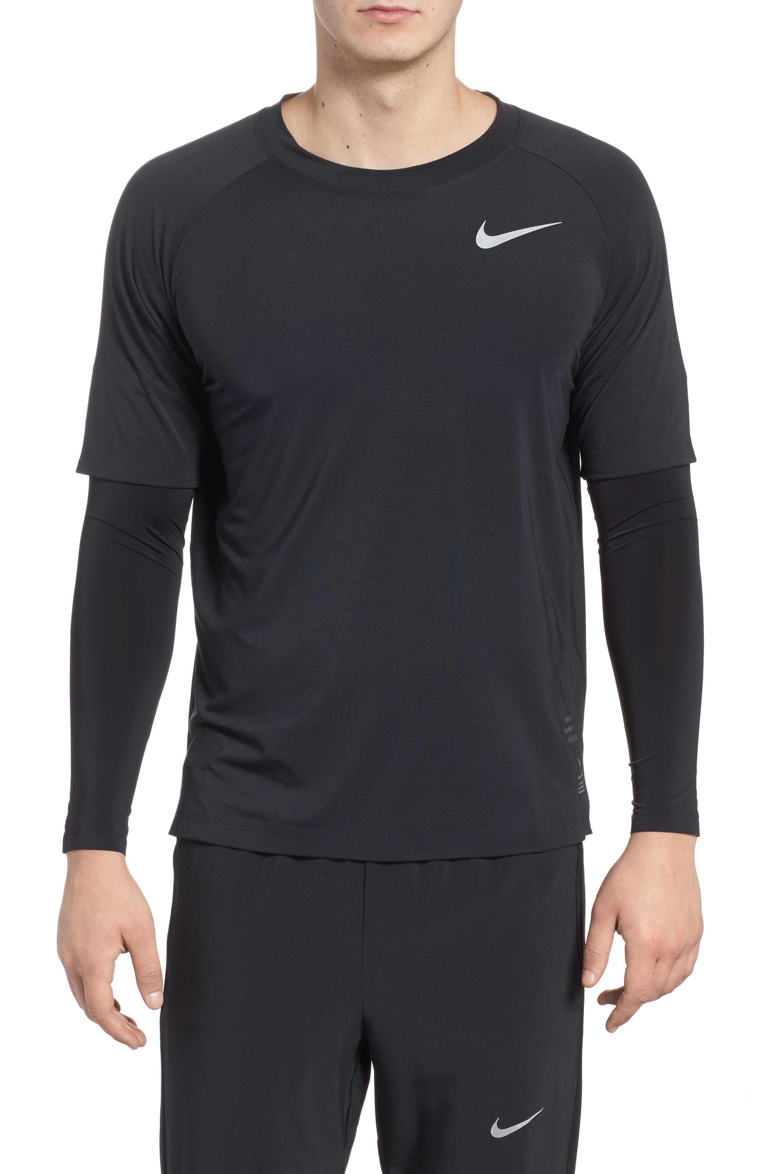 Alternate Image 1 Selected - Nike Run Division Dry Layered Long Sleeve T-Shirt