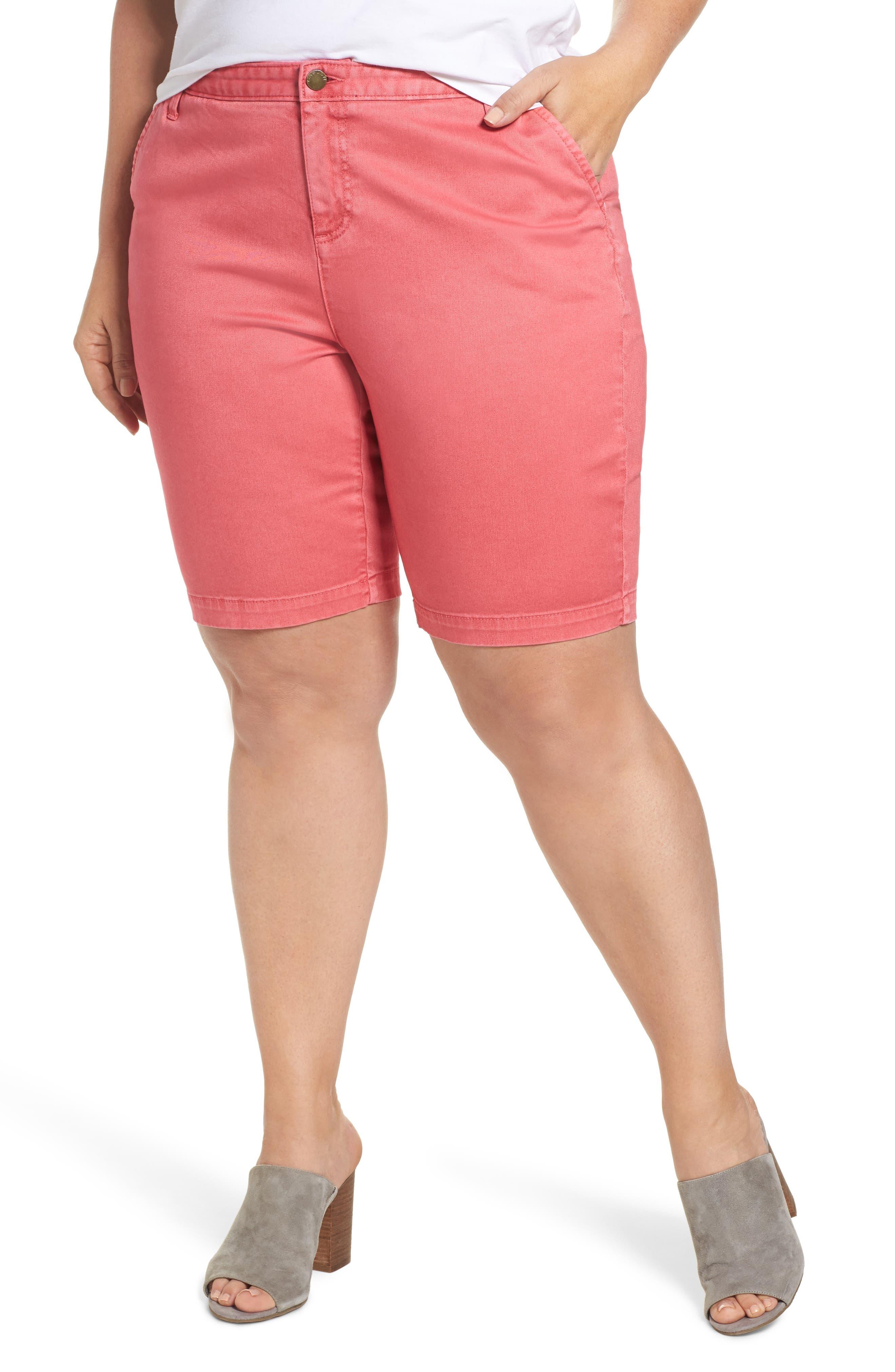 Caslon® Twill Shorts (Plus Size)