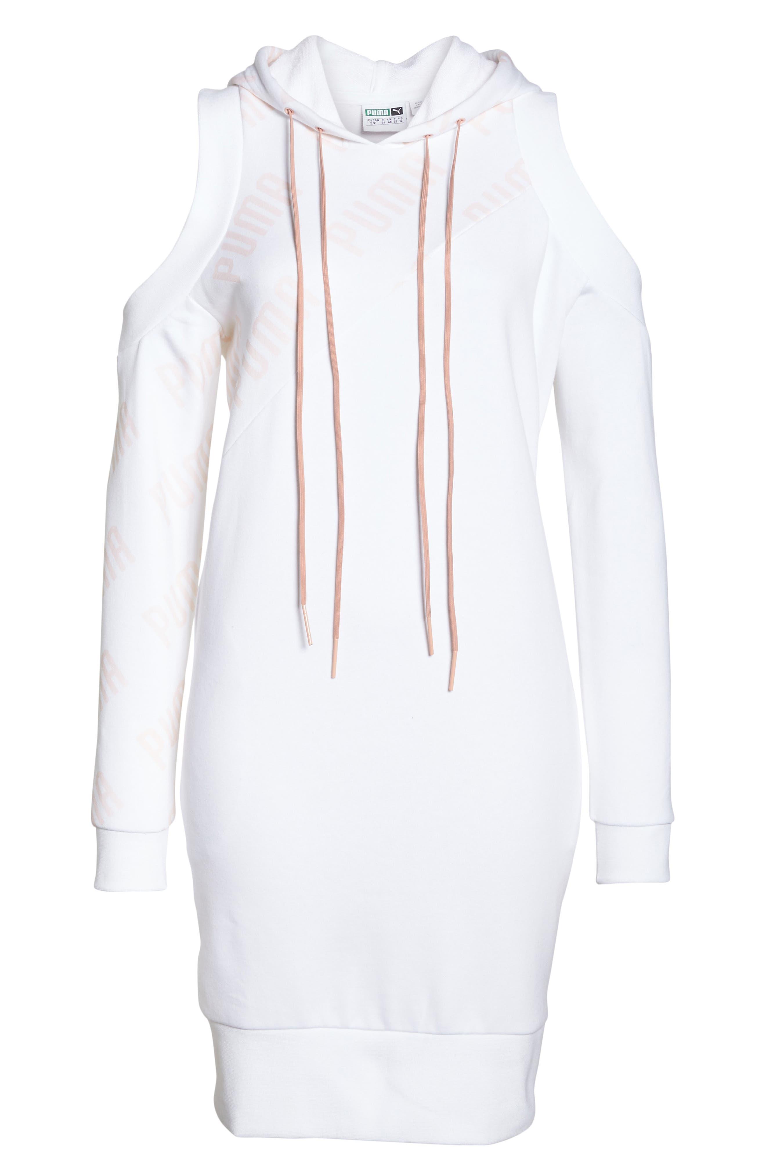 En Pointe Drawstring Dress,                             Alternate thumbnail 7, color,                             Puma White