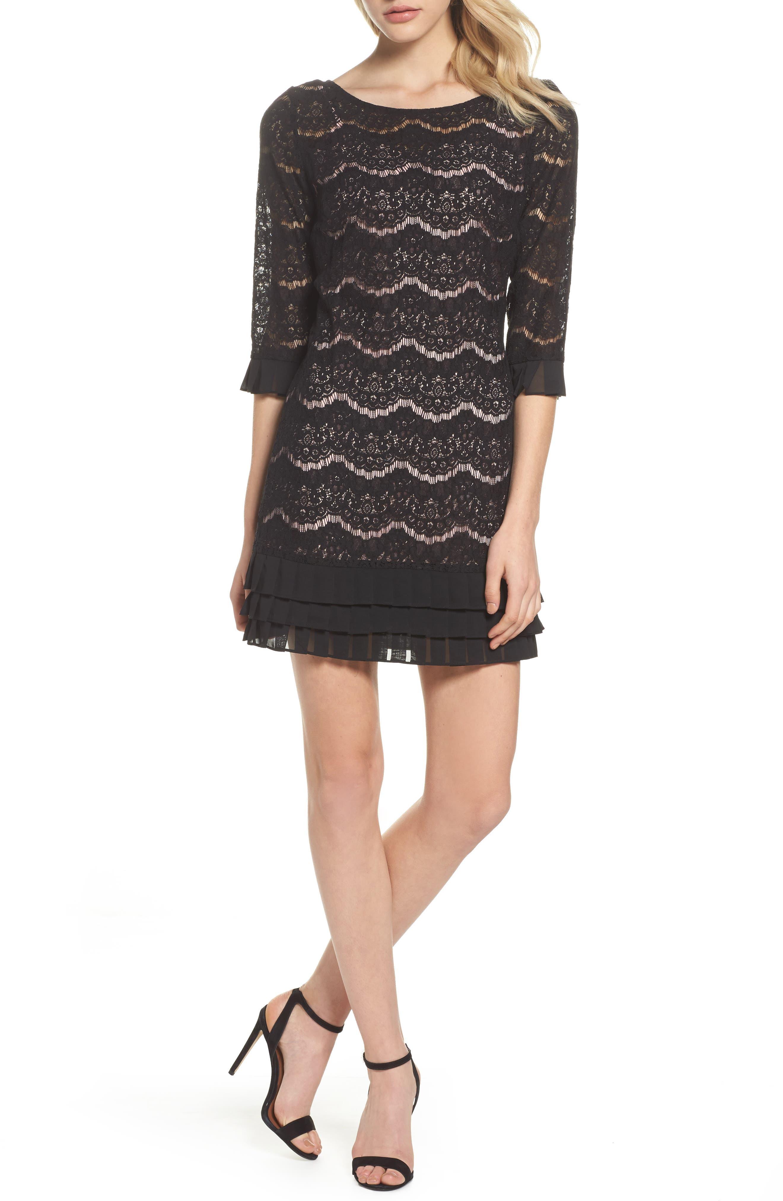Main Image - Julia Jordan Lace Shift Dress
