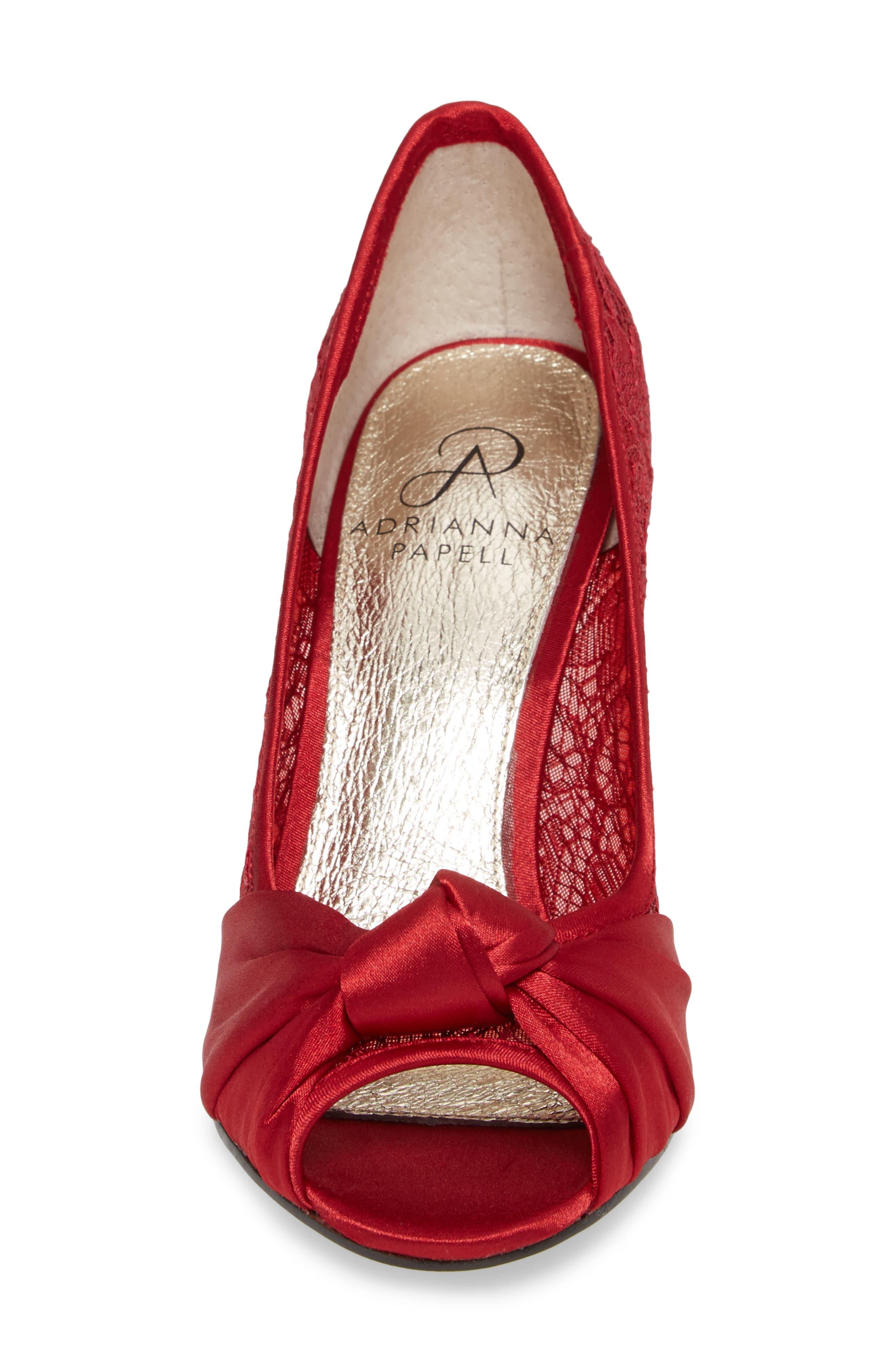 Alternate Image 4  - Adrianna Papell Francesca Knotted Peep Toe Pump (Women)