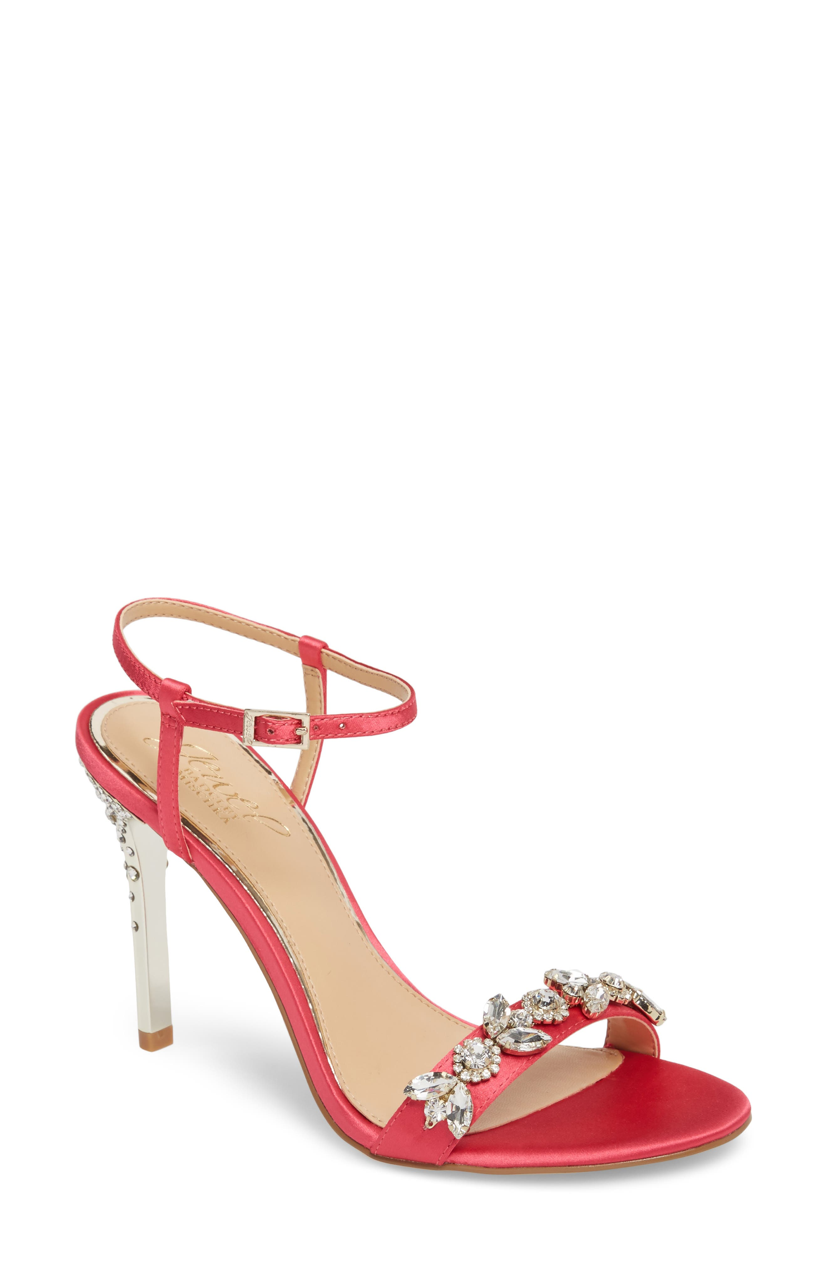 Alternate Image 1 Selected - Jewel Badgley Mischka Tex Ankle Strap Sandal (Women)