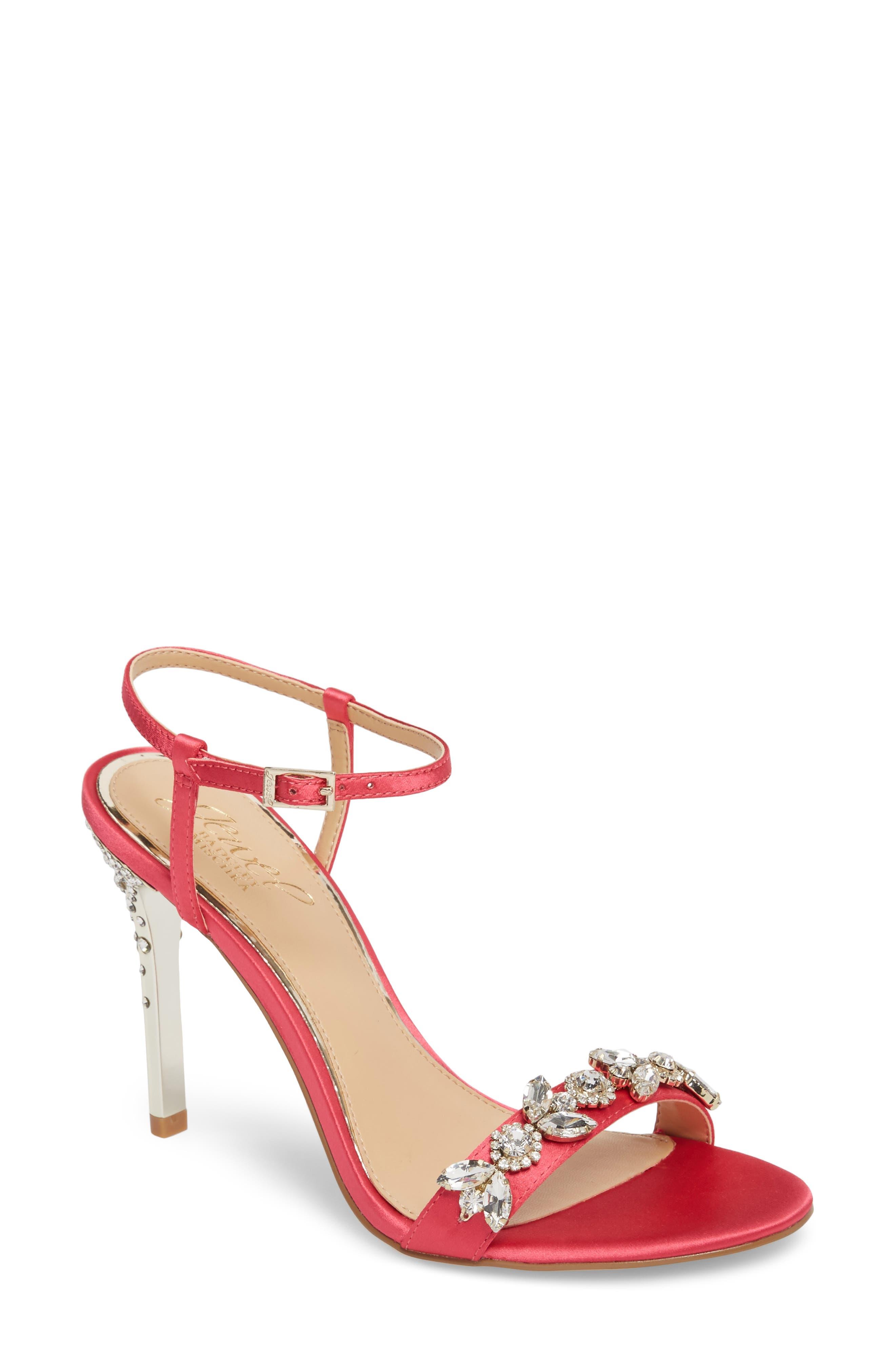 Main Image - Jewel Badgley Mischka Tex Ankle Strap Sandal (Women)
