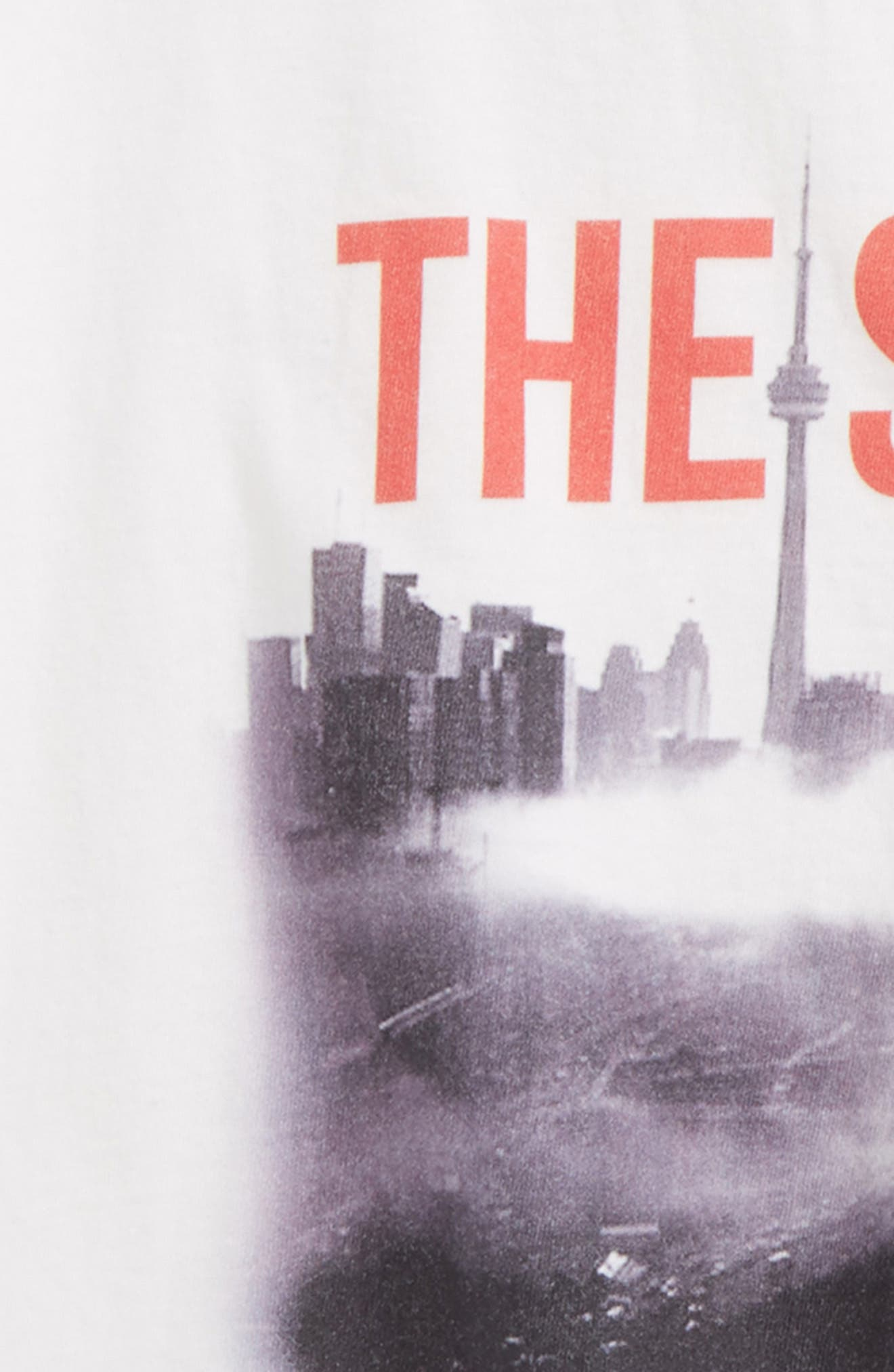 The Six Skyline Graphic T-Shirt,                             Alternate thumbnail 2, color,                             White