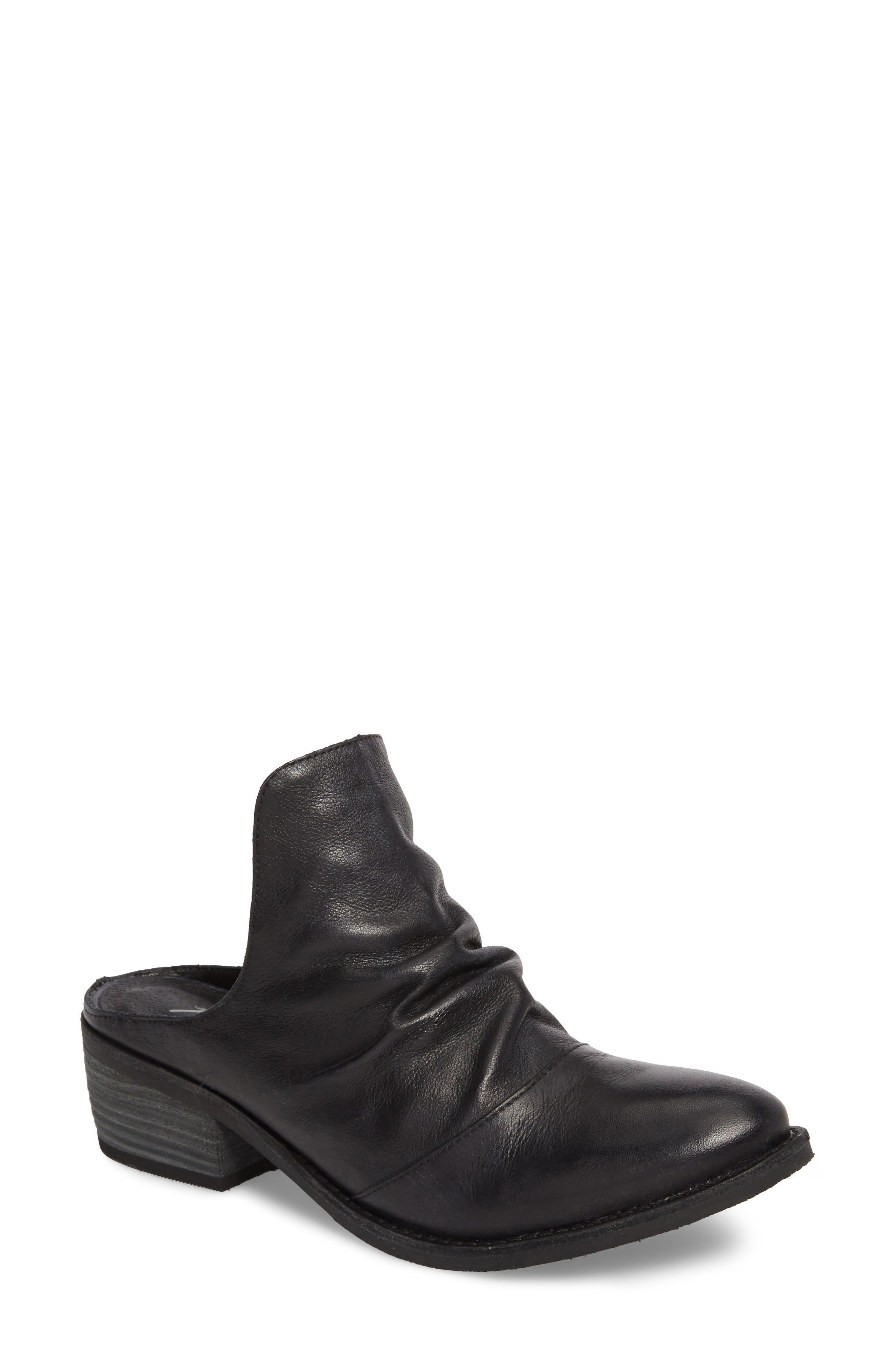 Augustine Mule,                         Main,                         color, Black Leather