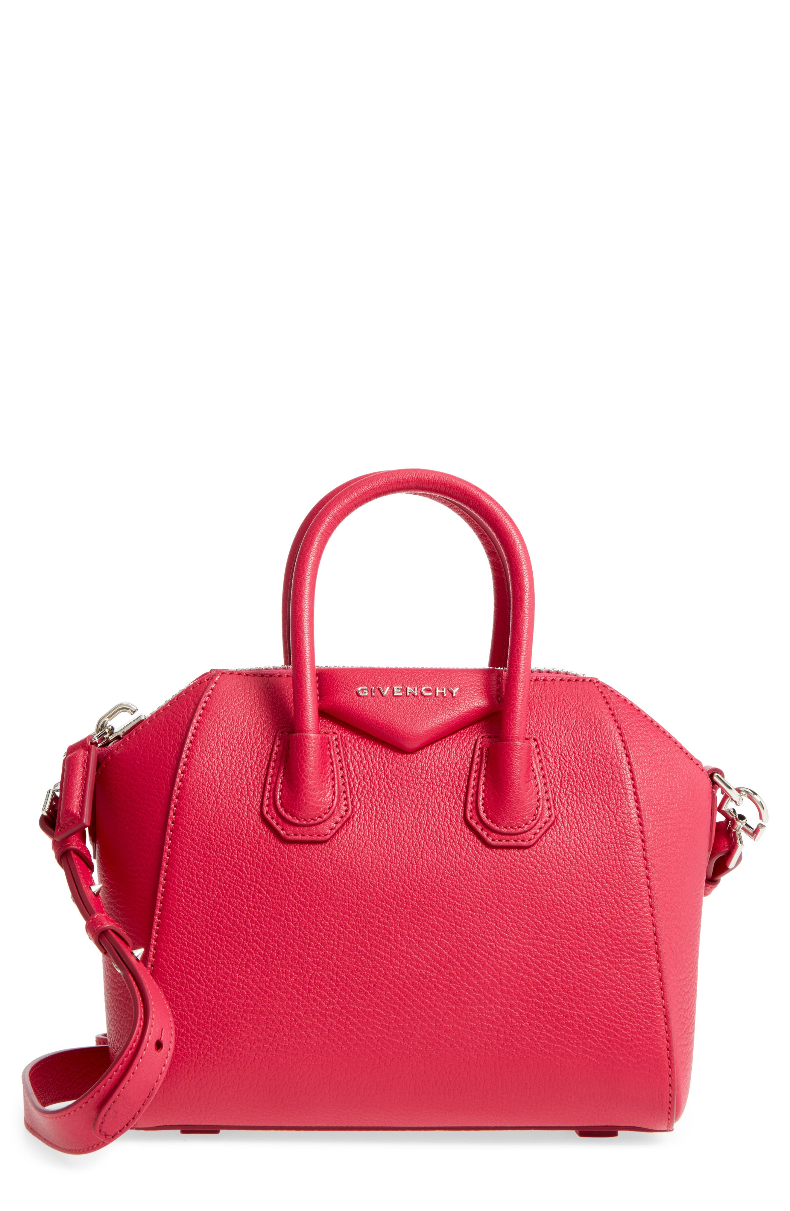Givenchy 'Mini Antigona' Sugar Leather Satchel