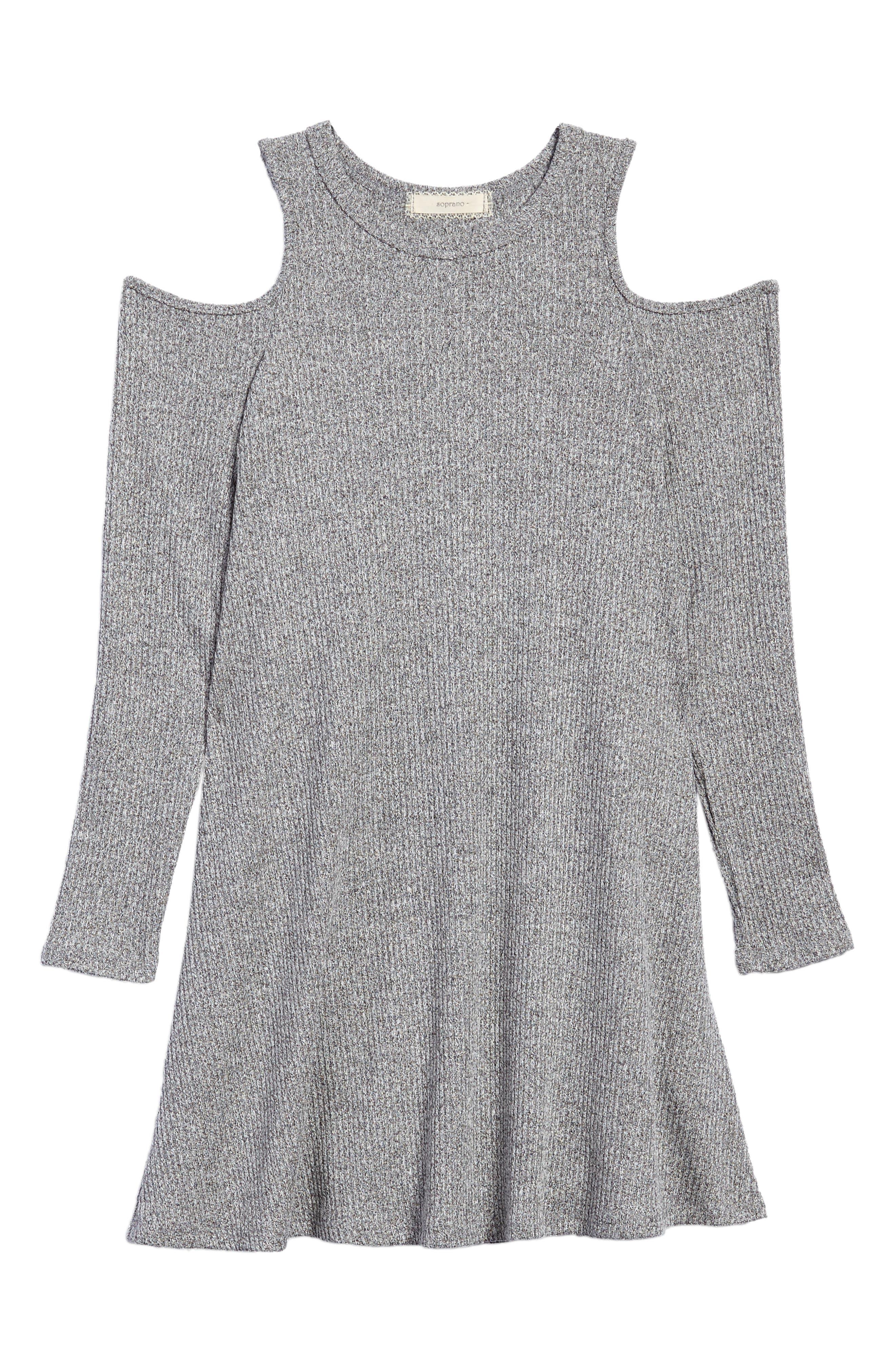 Soprano Cold Shoulder Knit Dress (Big Girls)