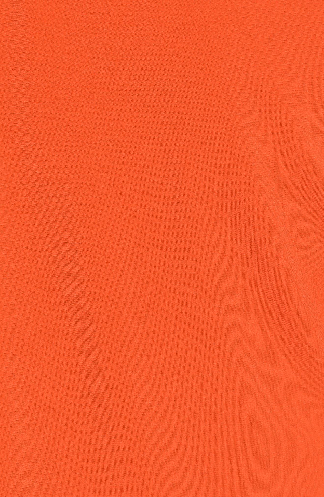 Neck Plate Cold Shoulder Top,                             Alternate thumbnail 5, color,                             Poppy
