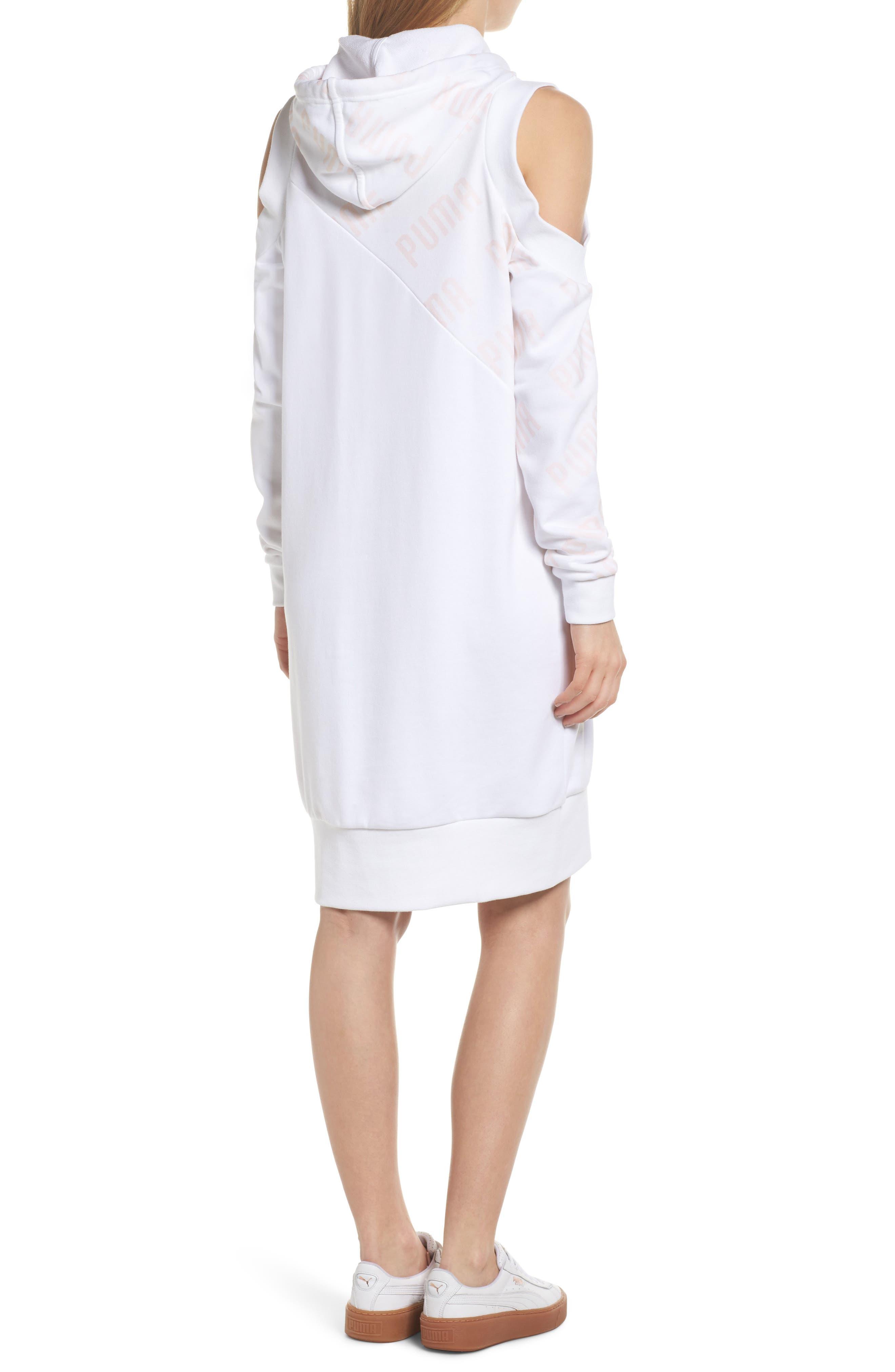 En Pointe Drawstring Dress,                             Alternate thumbnail 2, color,                             Puma White
