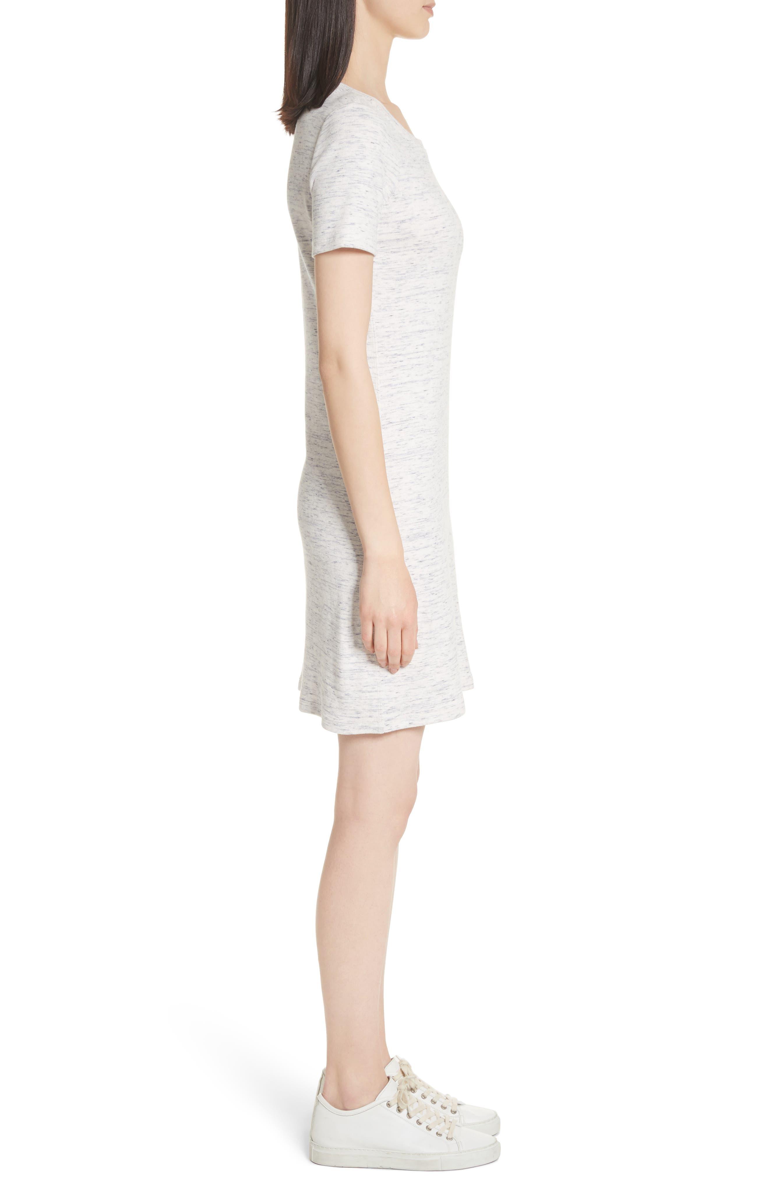 Cherry B3. T-Shirt Dress,                             Alternate thumbnail 3, color,                             Light Denim Melange