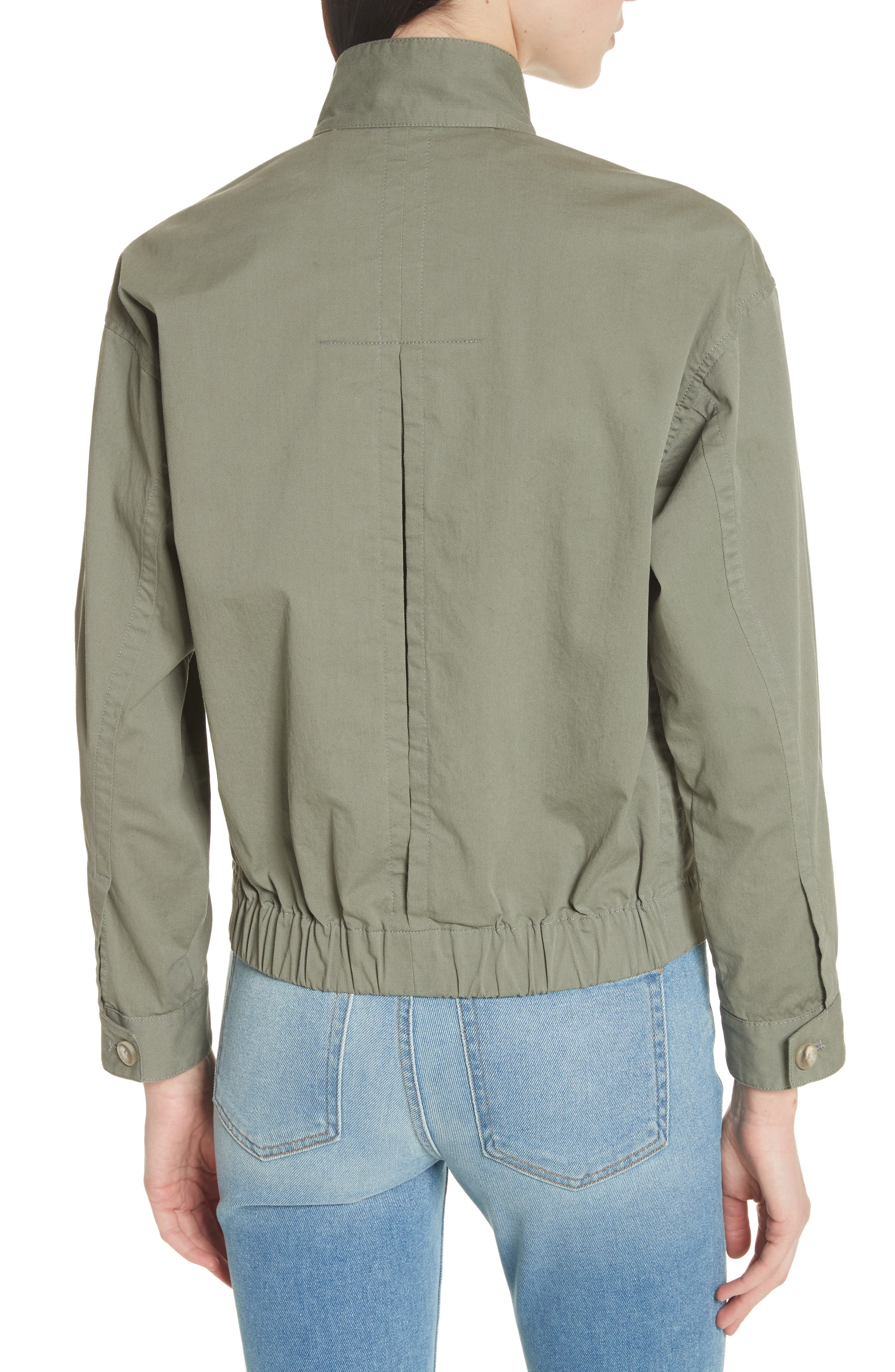 Blouson Bomber Jacket,                             Alternate thumbnail 2, color,                             Faded Army