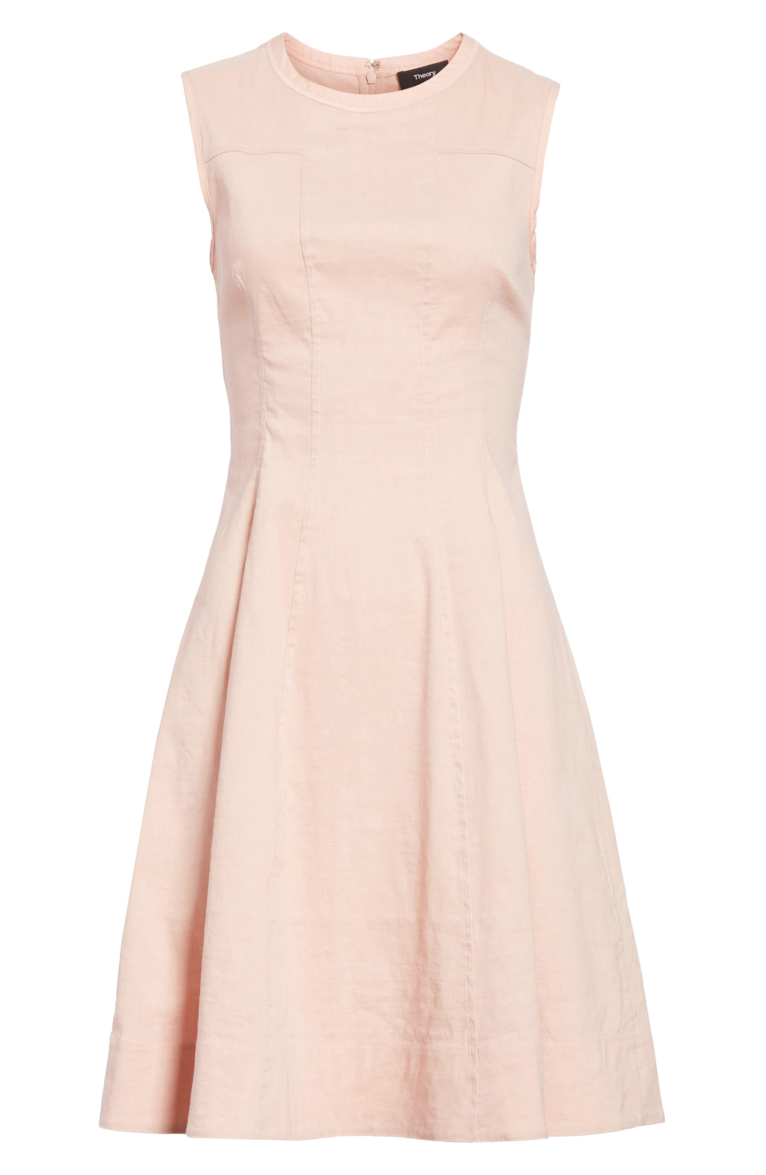 Modern Tea Dress,                             Alternate thumbnail 6, color,                             Pink Ballet