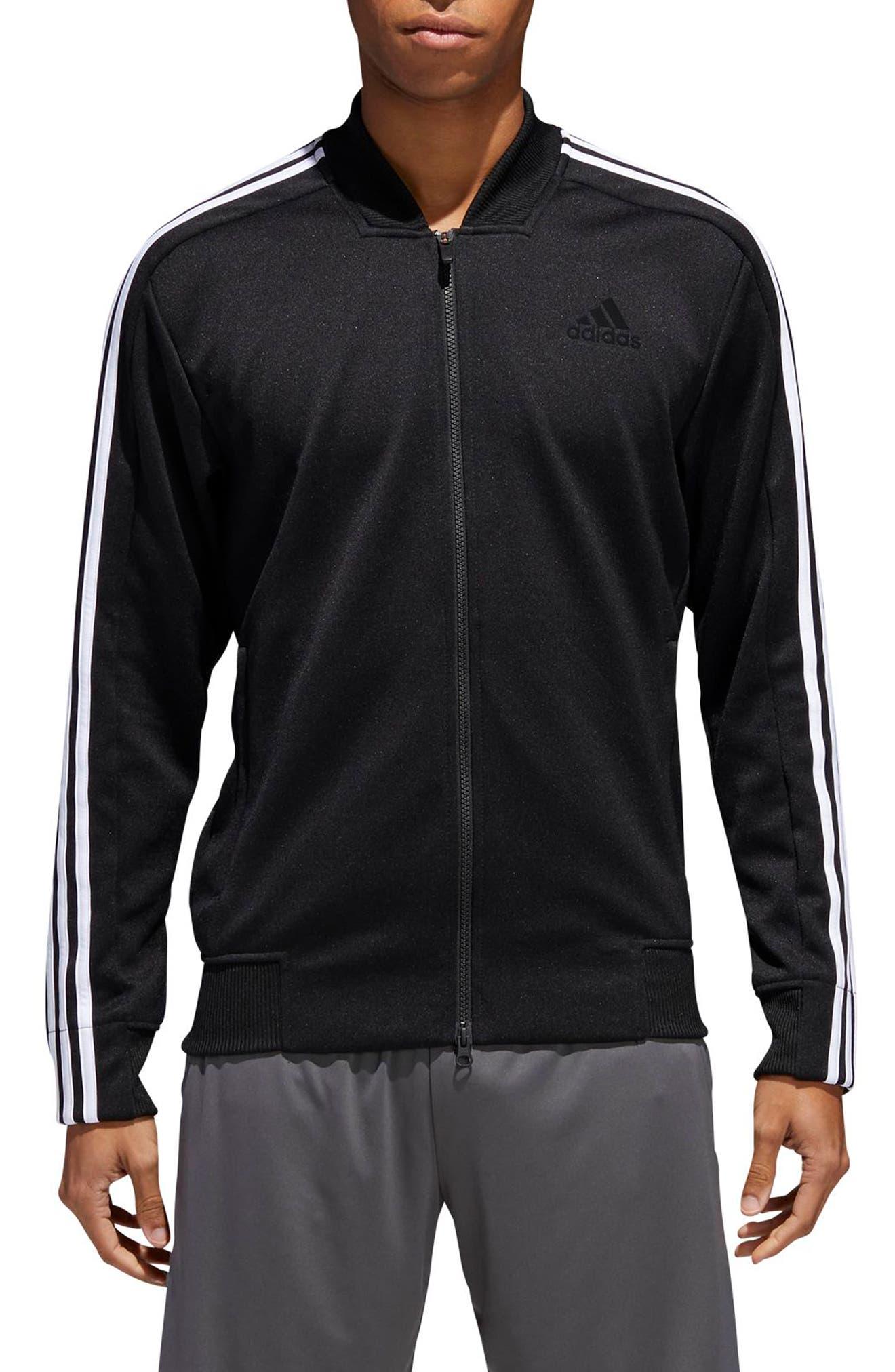 ID Trek Track Jacket,                         Main,                         color, Black / White