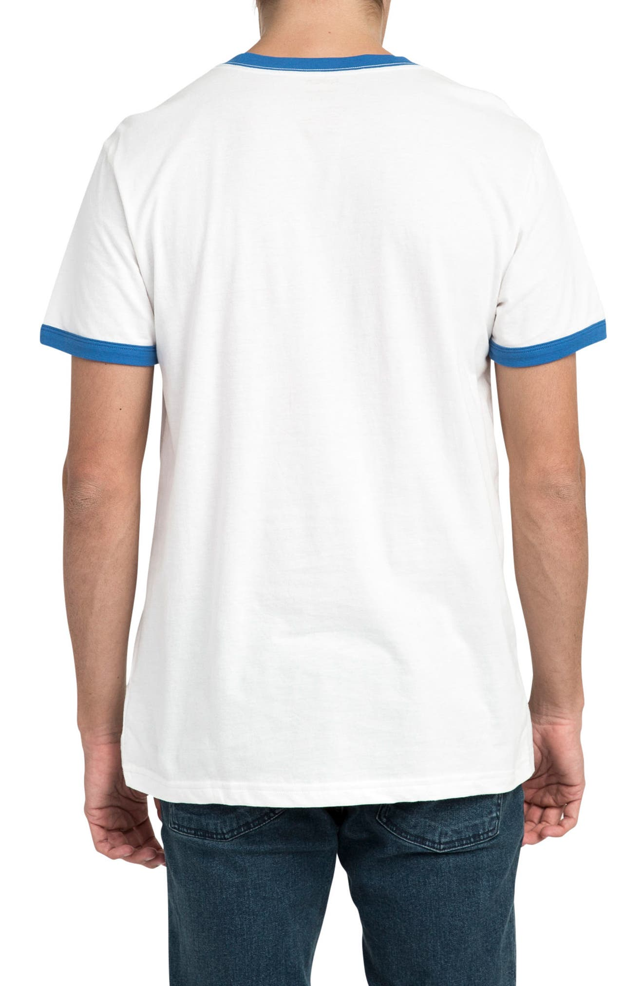 Volt Graphic Ringer T-Shirt,                             Alternate thumbnail 2, color,                             White/ Royal