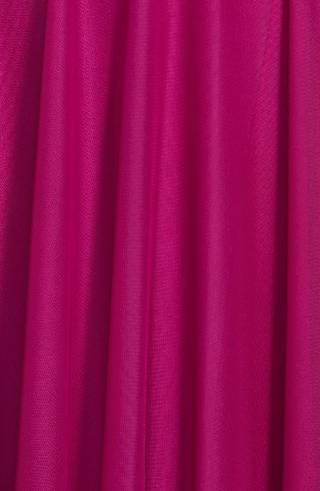 Alternate Image 3  - Xscape Embellished One Shoulder Mesh Gown