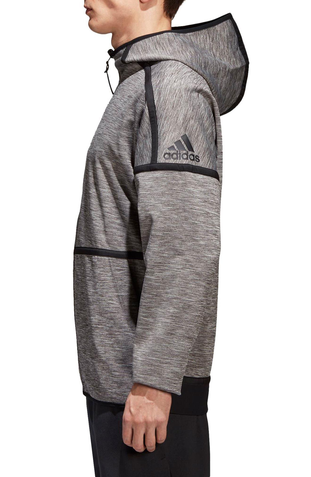 ZNE Regular Fit Reversible Hooded Jacket,                             Alternate thumbnail 3, color,                             Black / Storm Heather/ Mgh