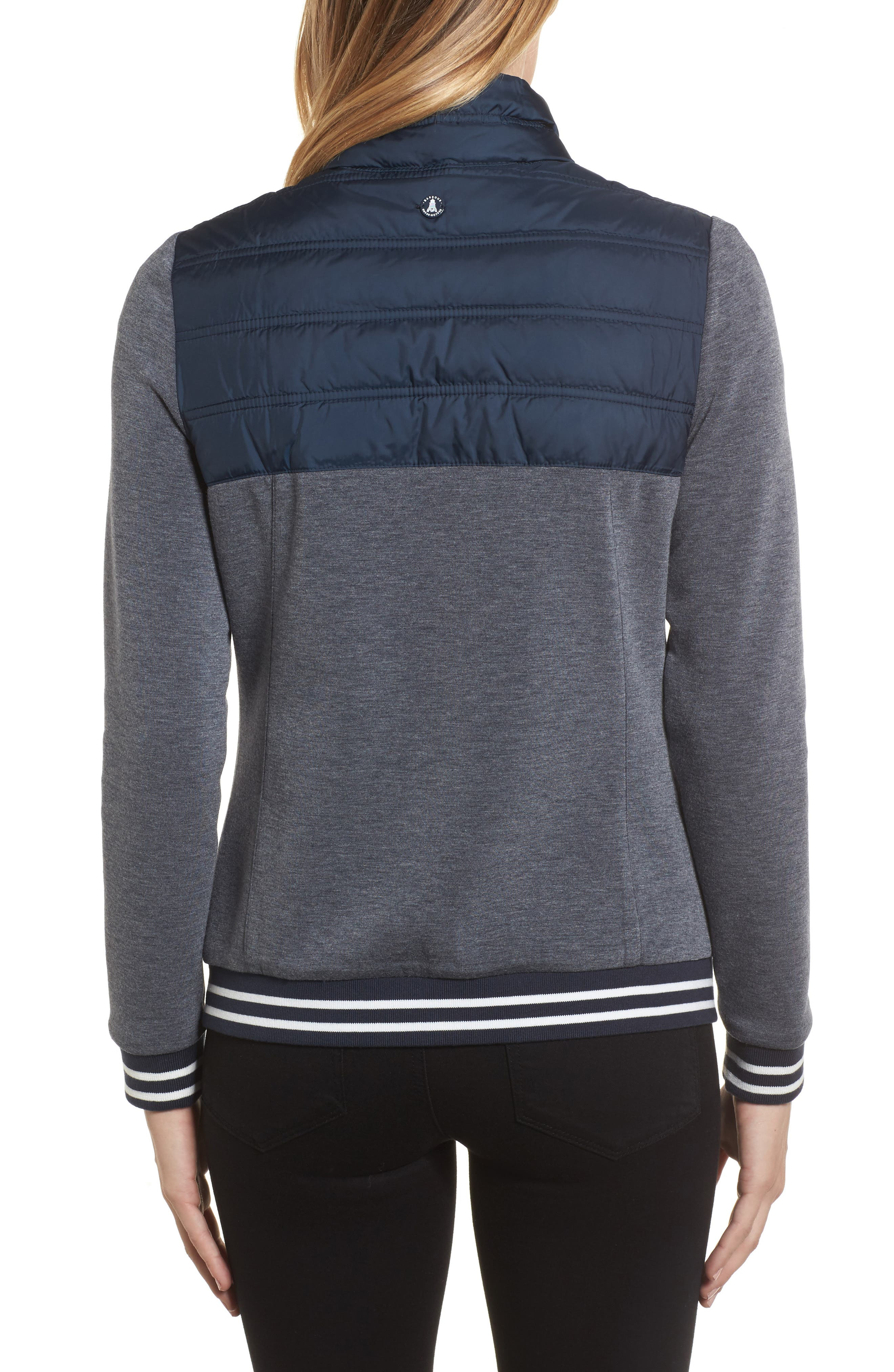 Selsey Zip Sweater,                             Alternate thumbnail 2, color,                             Navy Marl