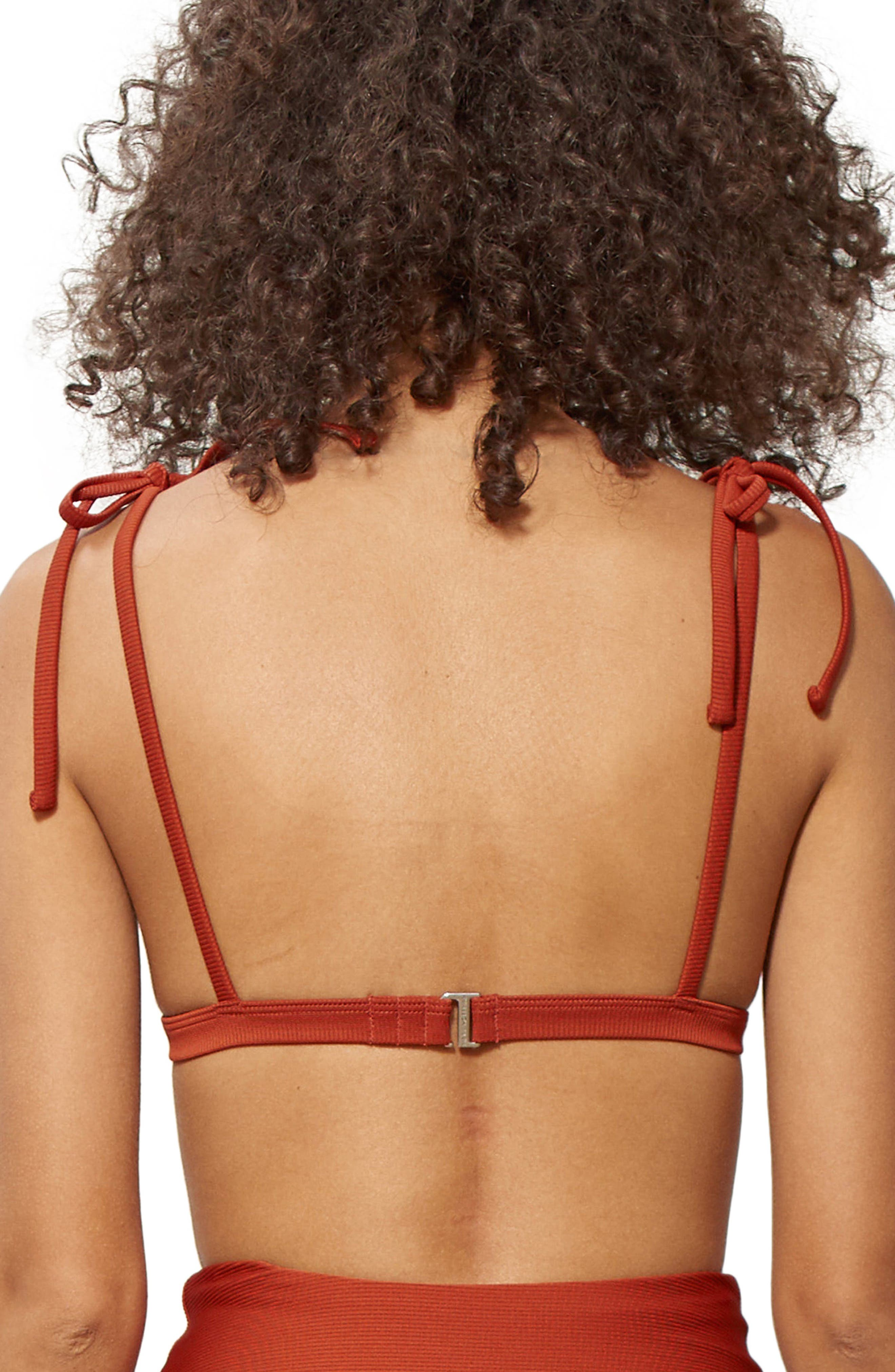 Ina Grommet Bikini Top,                             Alternate thumbnail 2, color,                             Rust