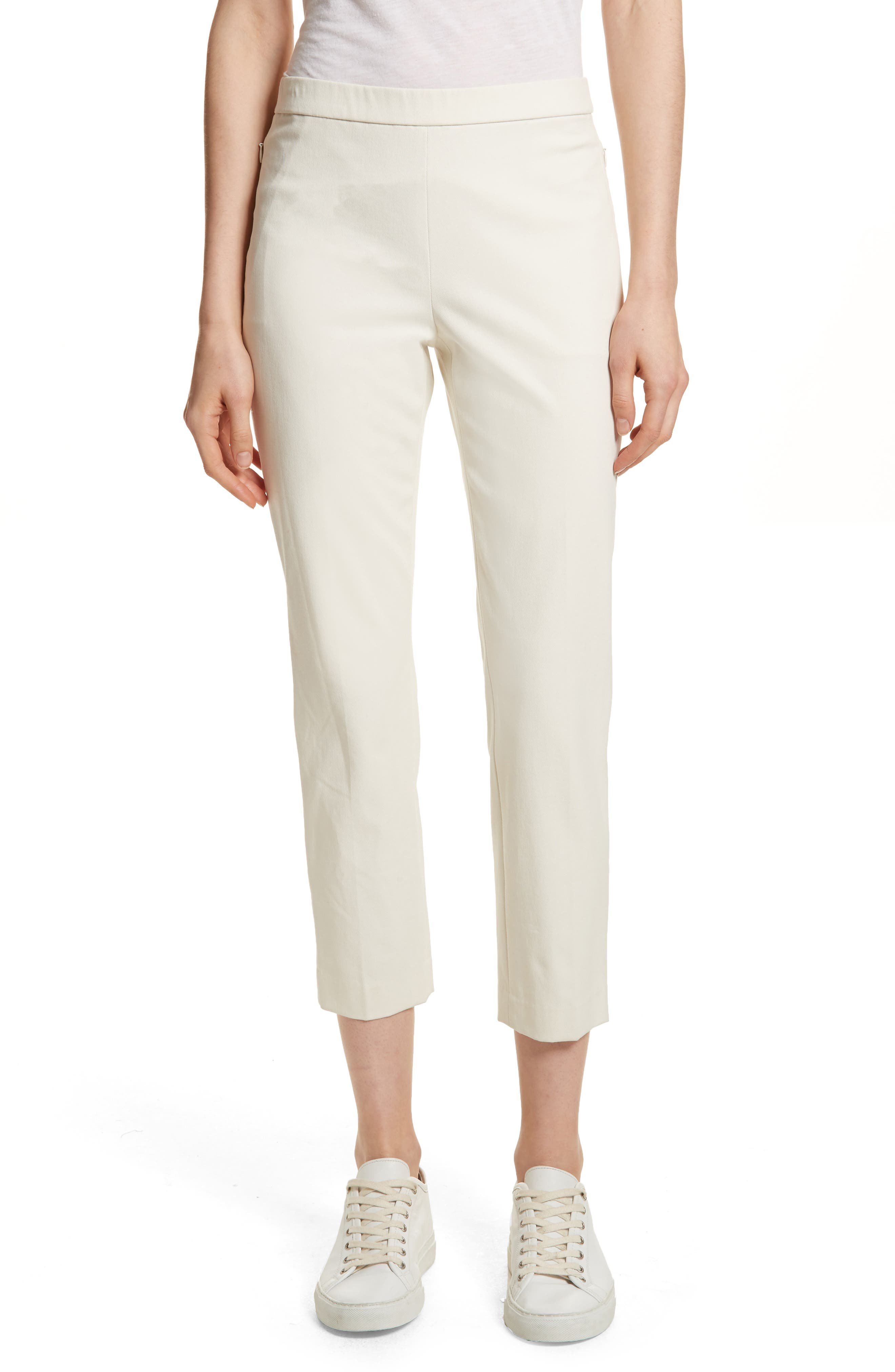 Basic Pull-On Pants,                         Main,                         color, Ivory