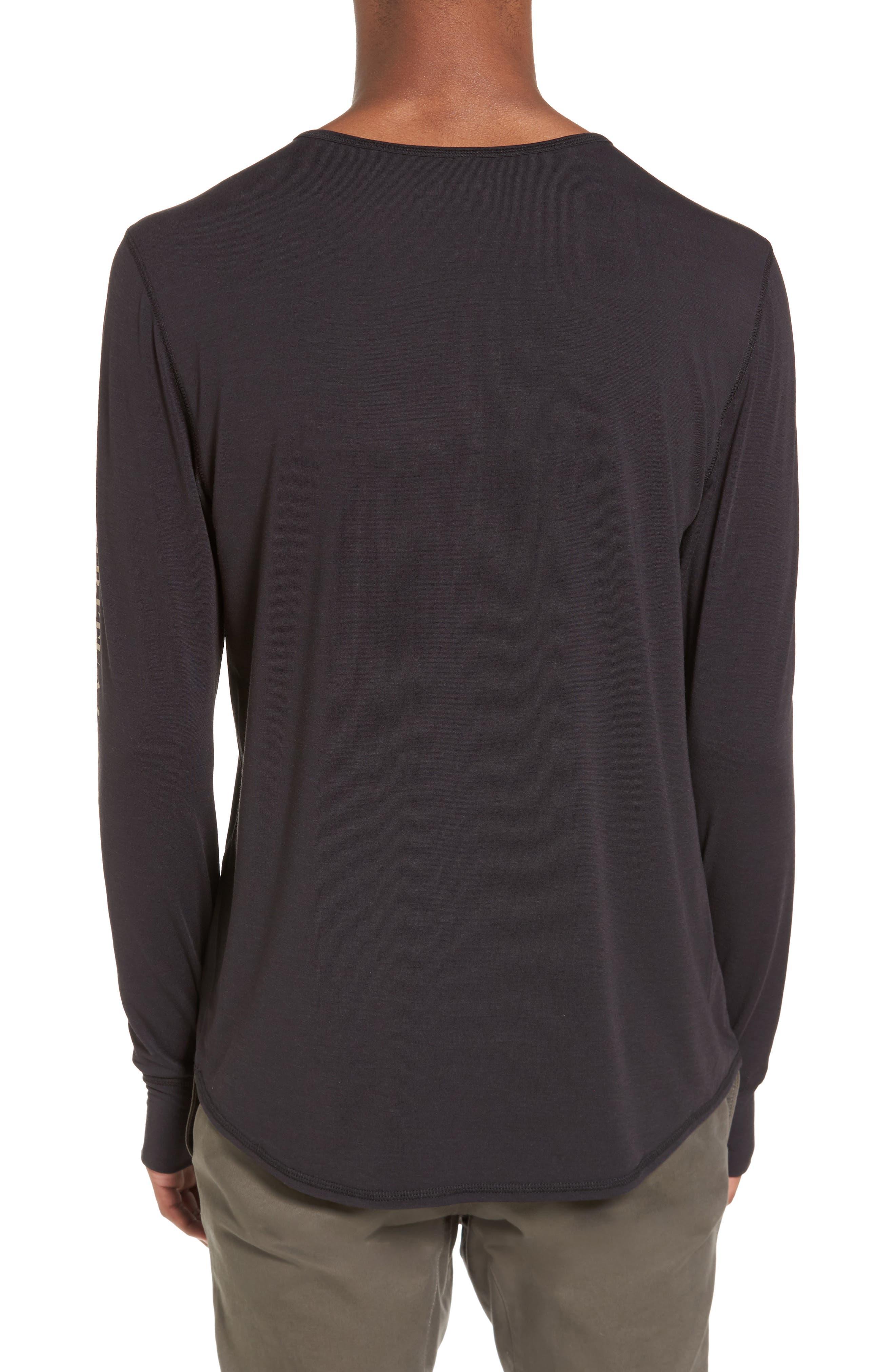 Yantra Wave T-Shirt,                             Alternate thumbnail 2, color,                             Black/ Black