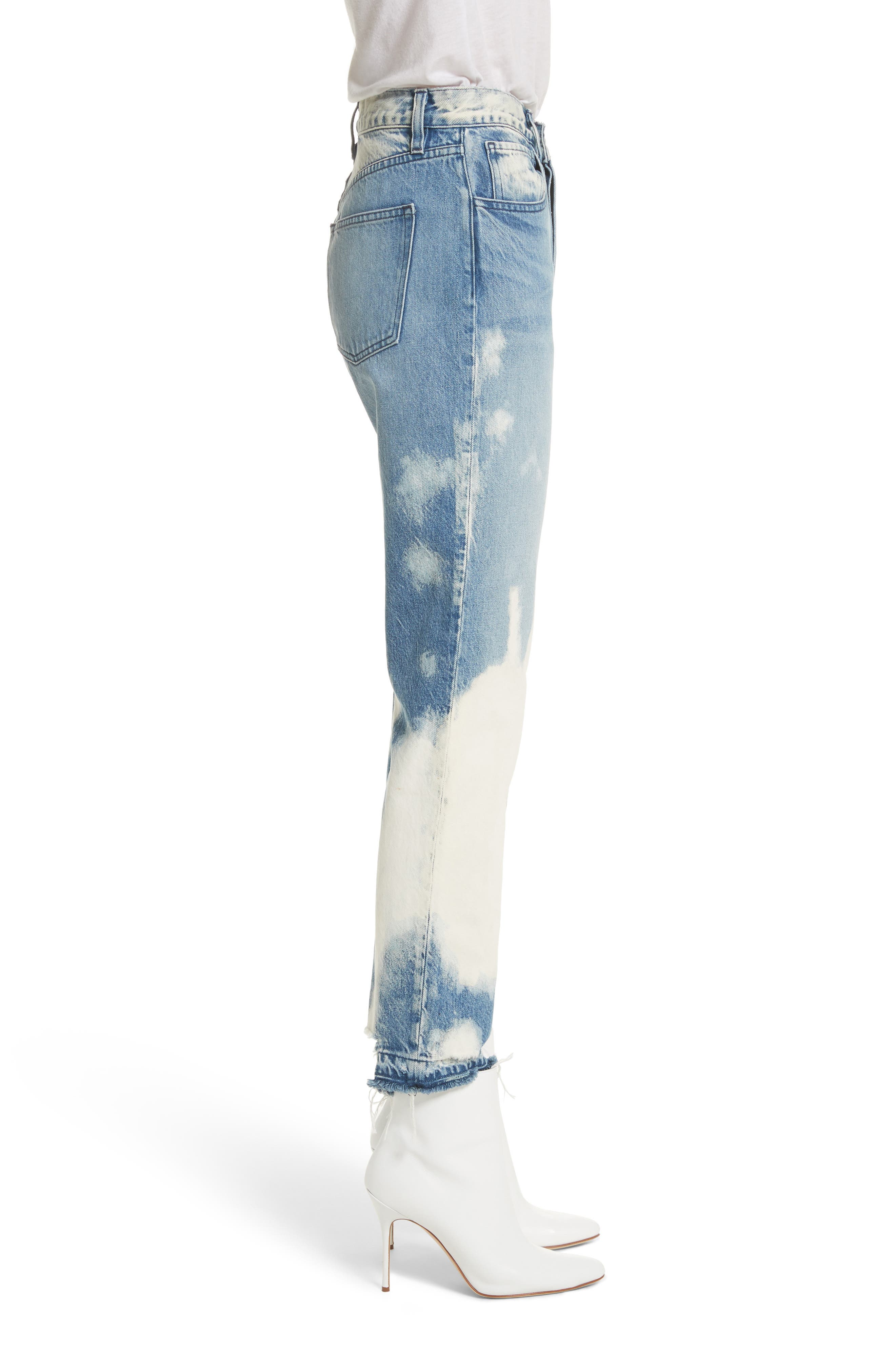 W3 Higher Ground Bleached Ankle Slim Fit Jeans,                             Alternate thumbnail 3, color,                             Marble