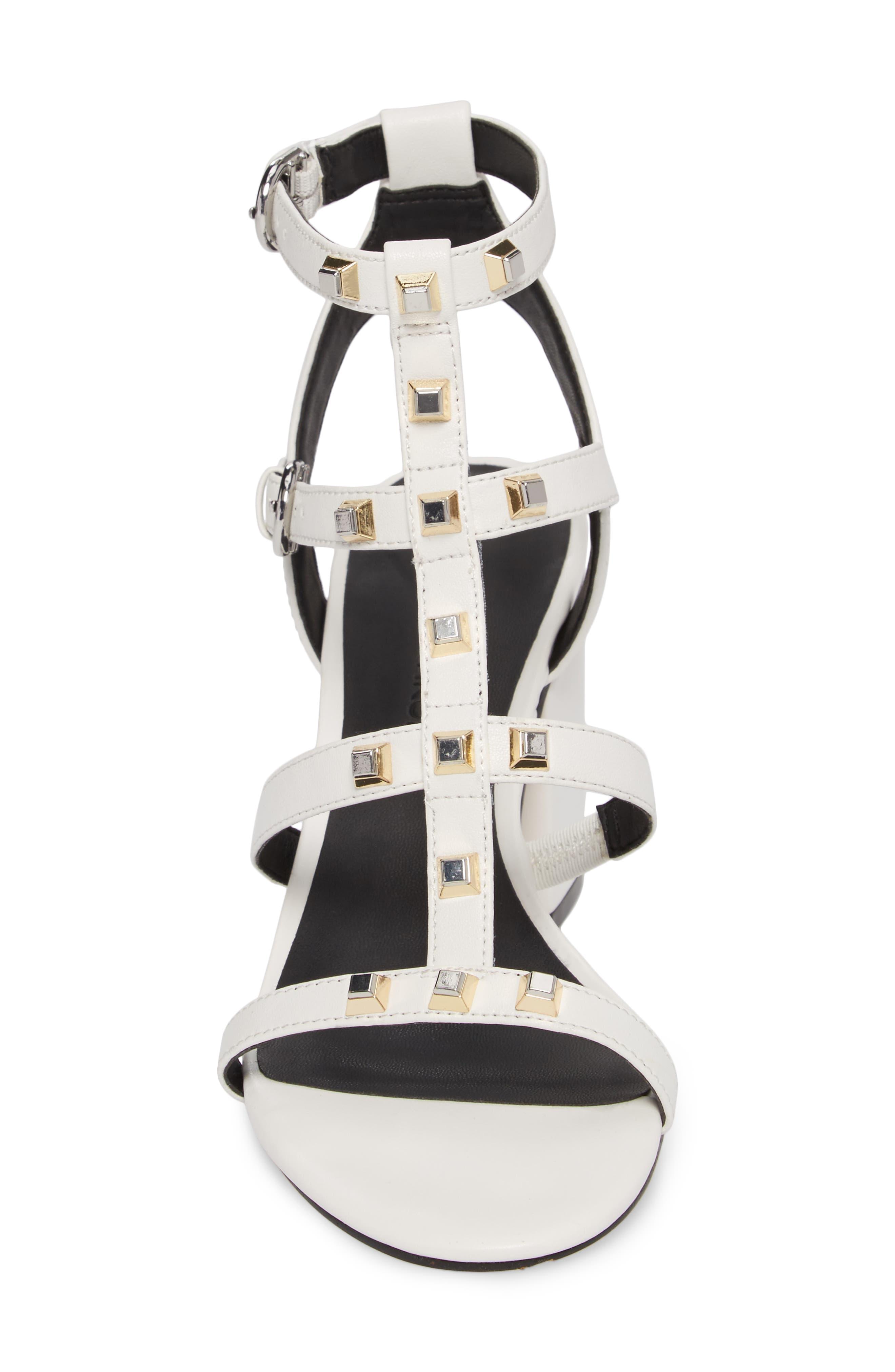 Lenore Sandal,                             Alternate thumbnail 4, color,                             Optic White Leather