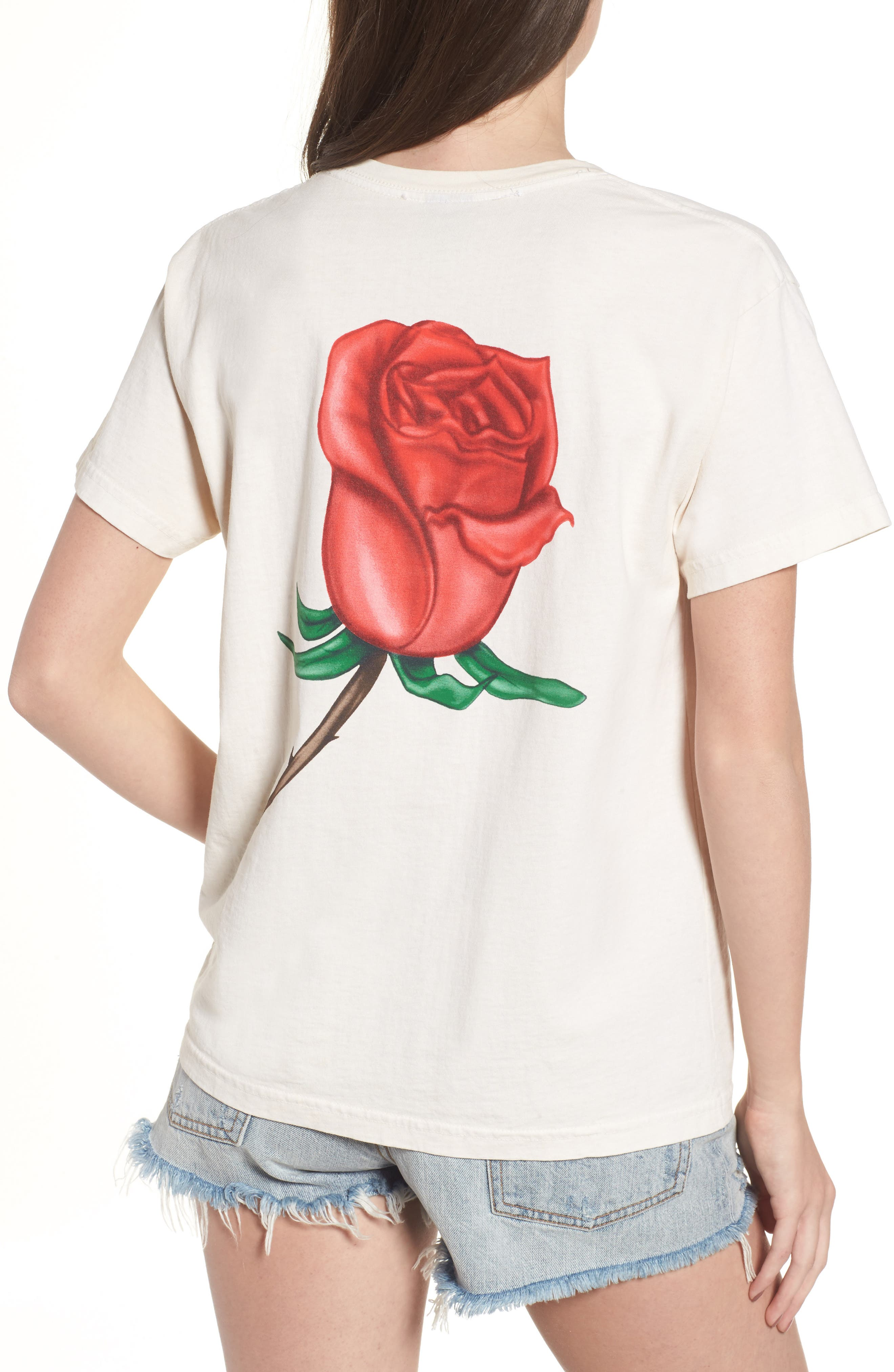Slauson Rose Graphic Tee,                             Alternate thumbnail 2, color,                             Creme