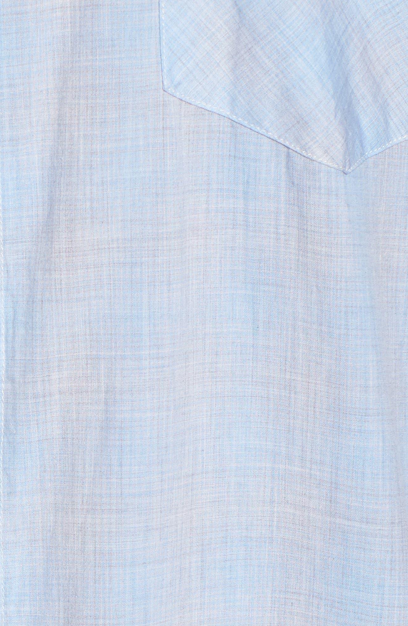John T Slim Fit Sport Shirt,                             Alternate thumbnail 5, color,                             Light Blue