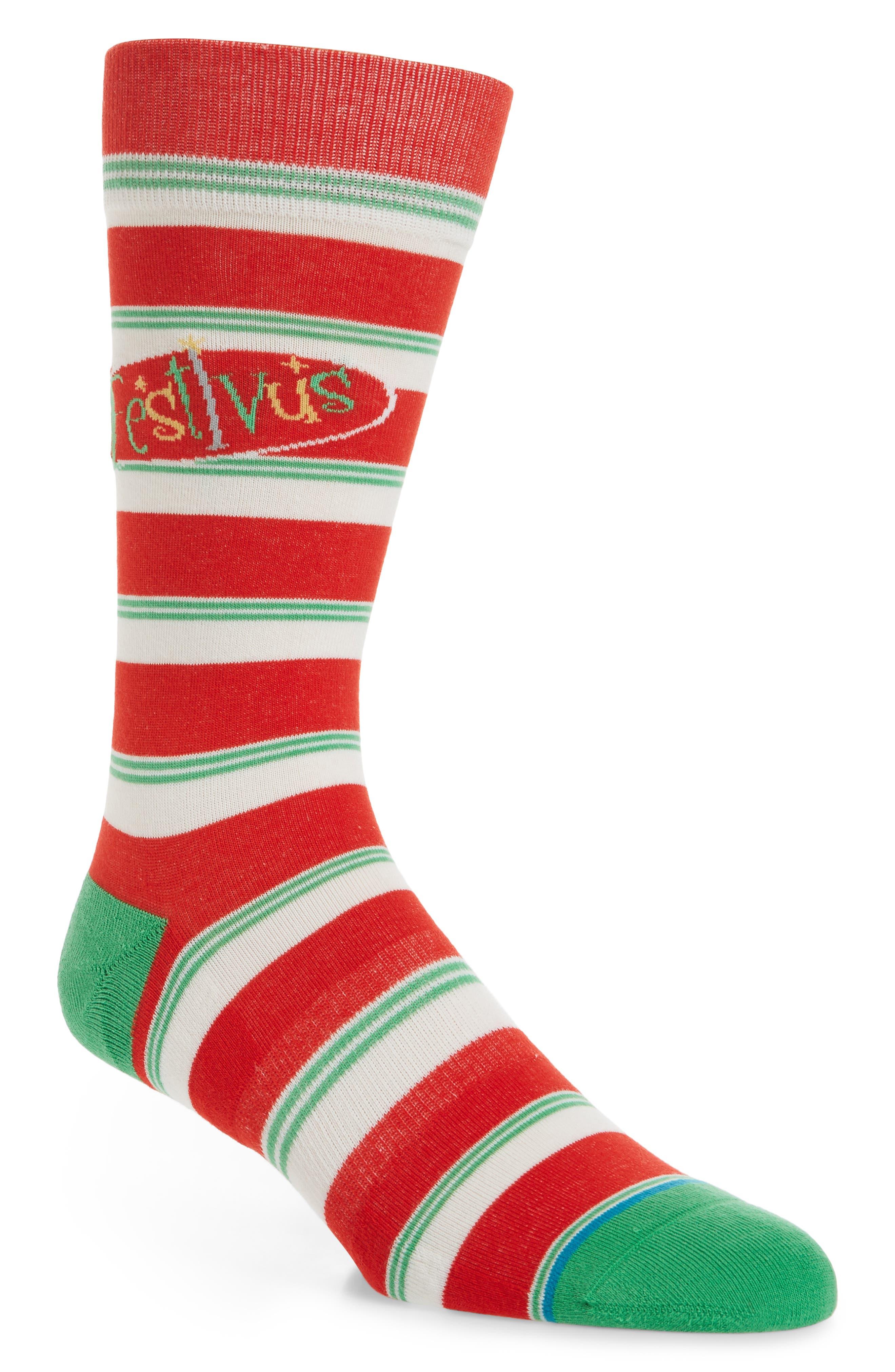 Seinfeld Festivus Socks,                         Main,                         color, Red