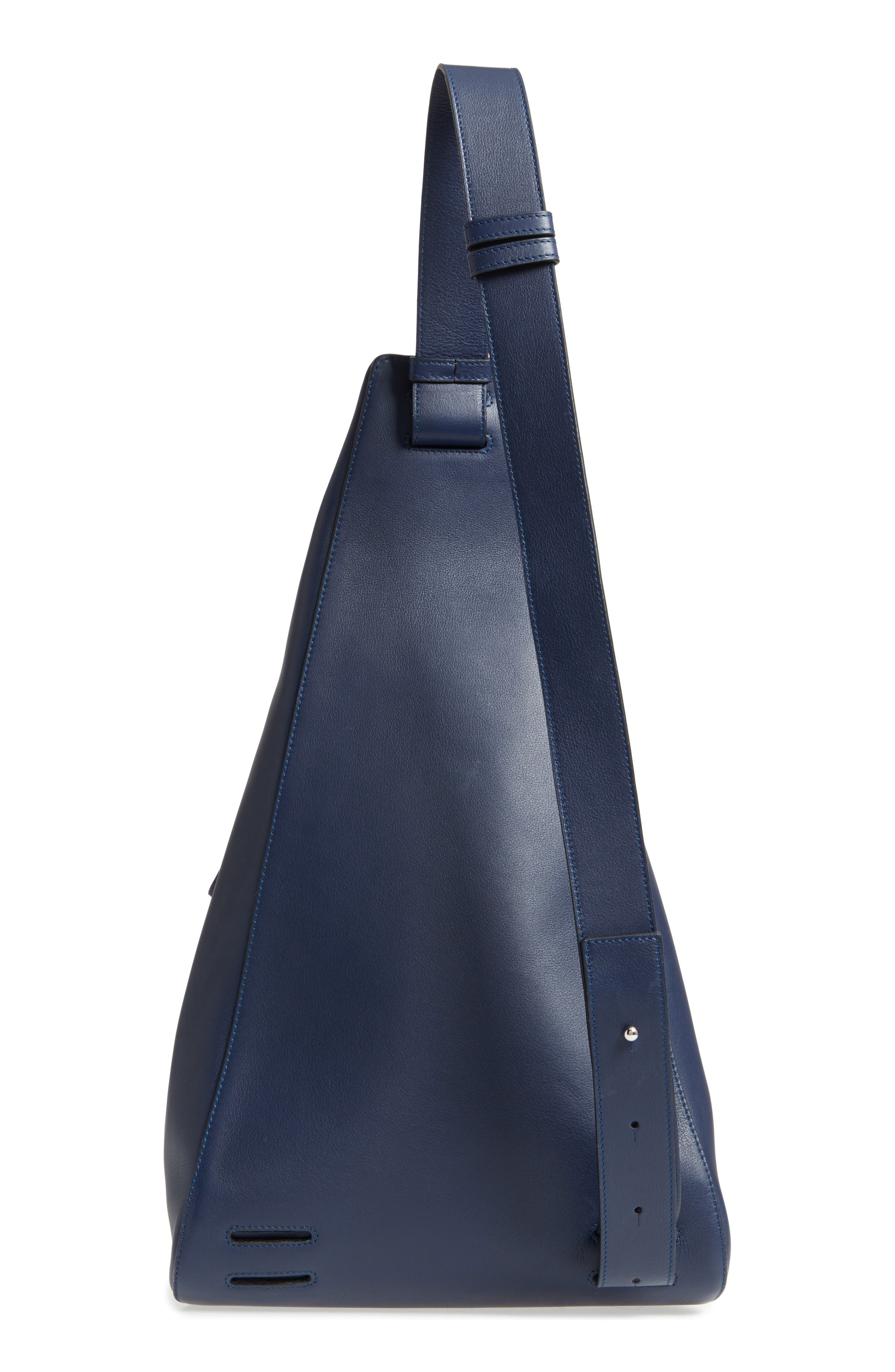 Anton Leather Sling Pack,                             Alternate thumbnail 3, color,                             Navy Blue