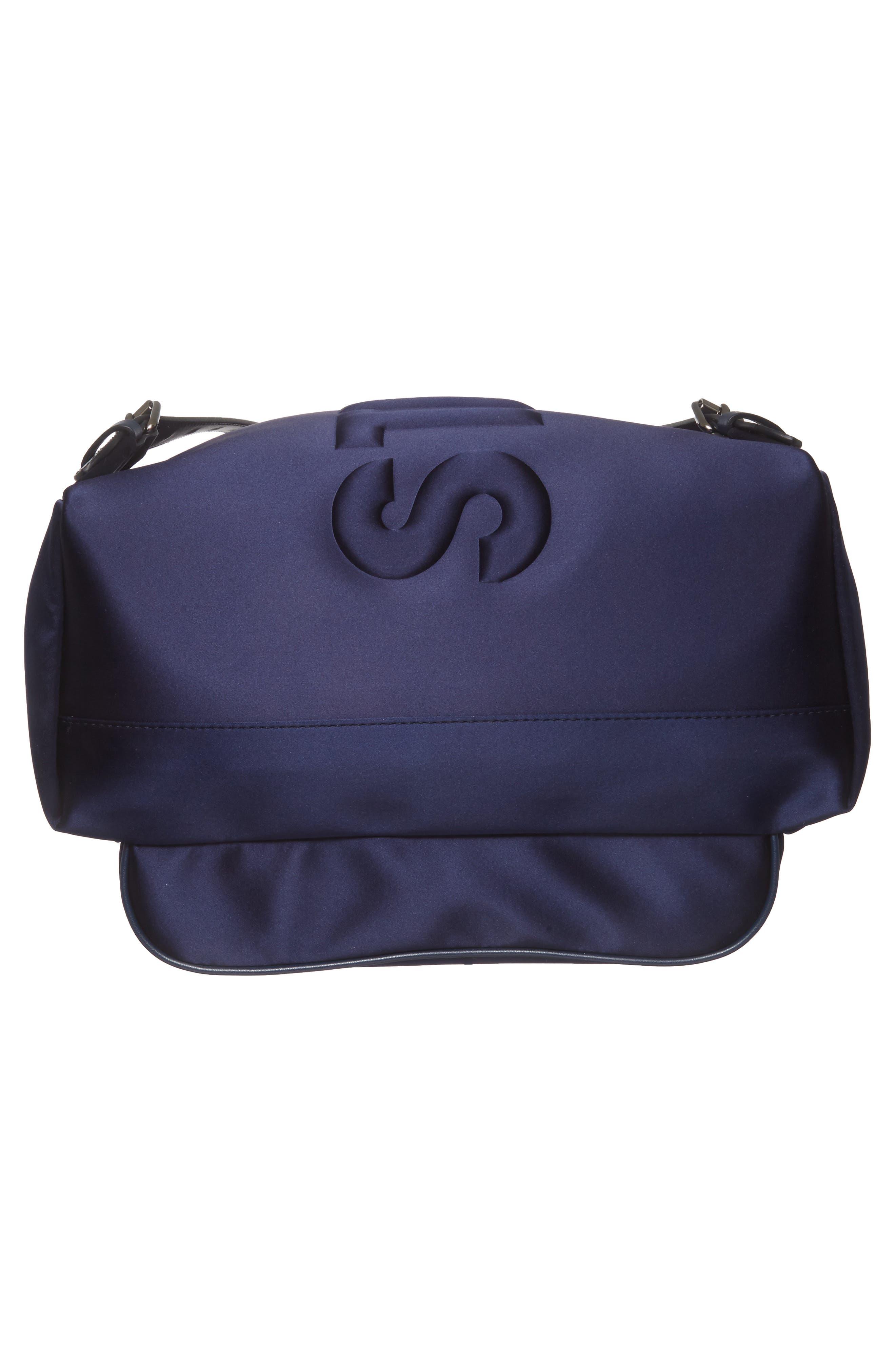Alternate Image 6  - Stella McCartney Logo Embossed Satin Backpack