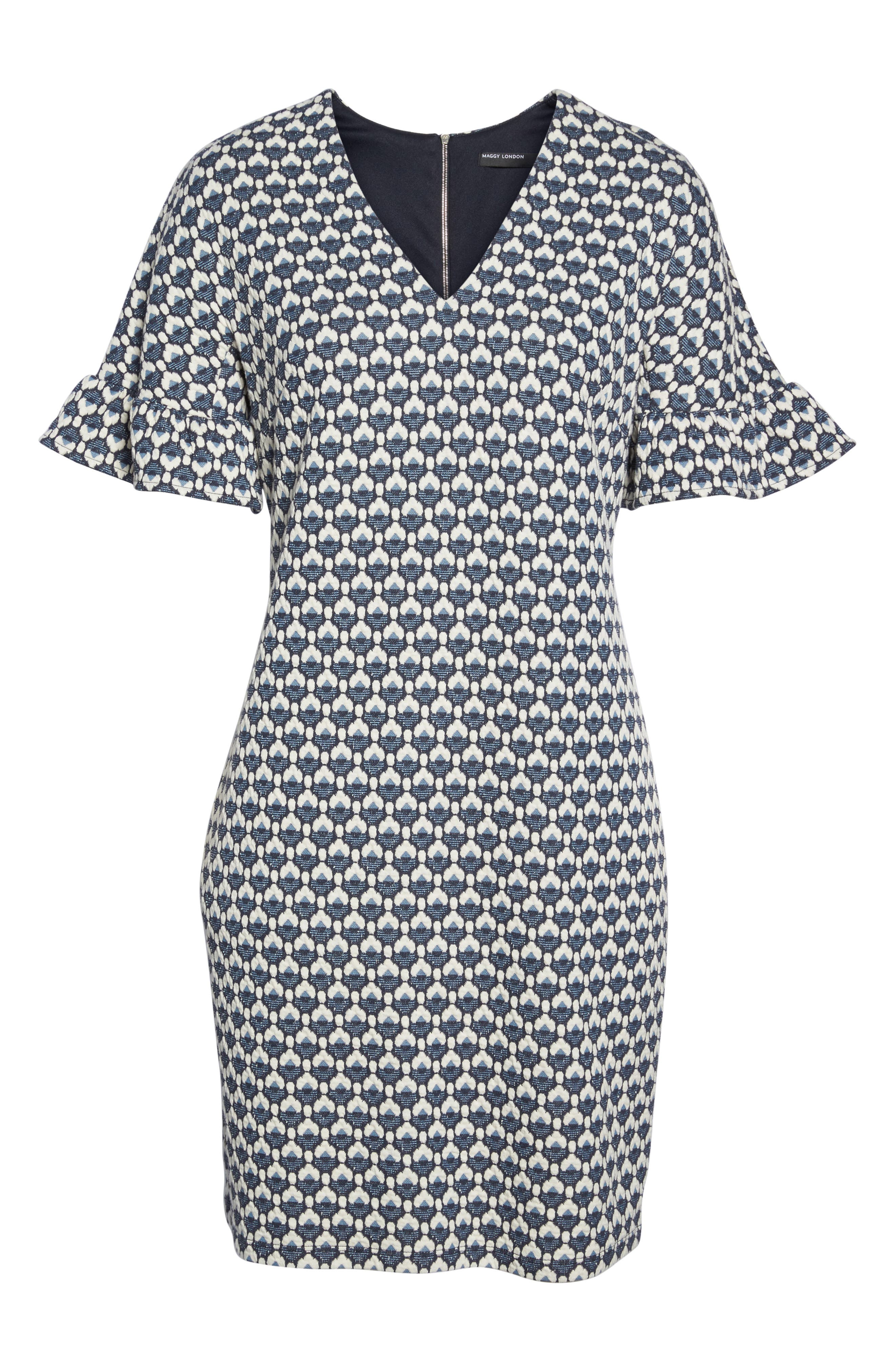 Alternate Image 6  - Maggy London Jacquard Shift Dress
