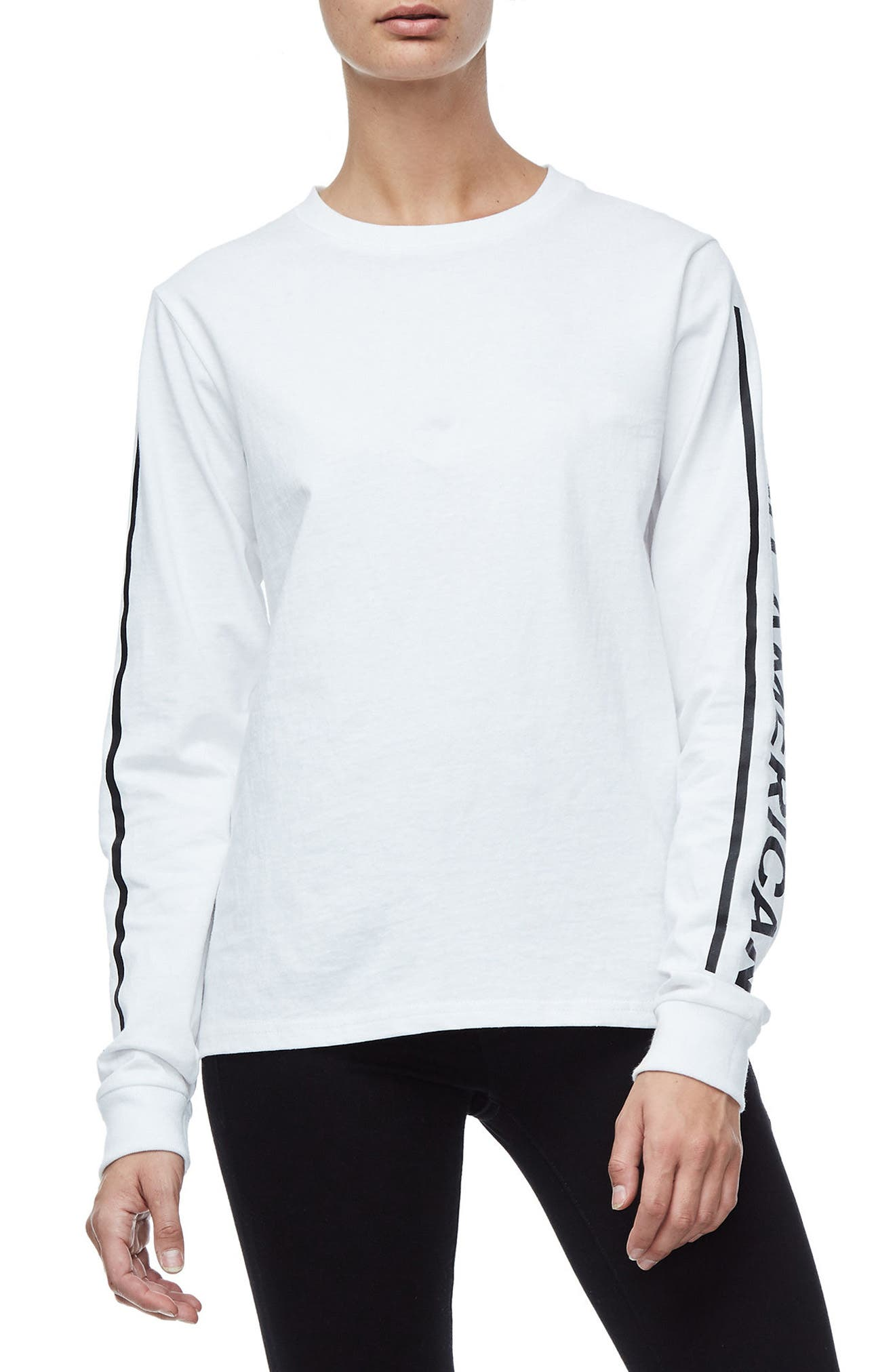 Goodies Long Sleeve Graphic Tee,                             Main thumbnail 1, color,                             White001