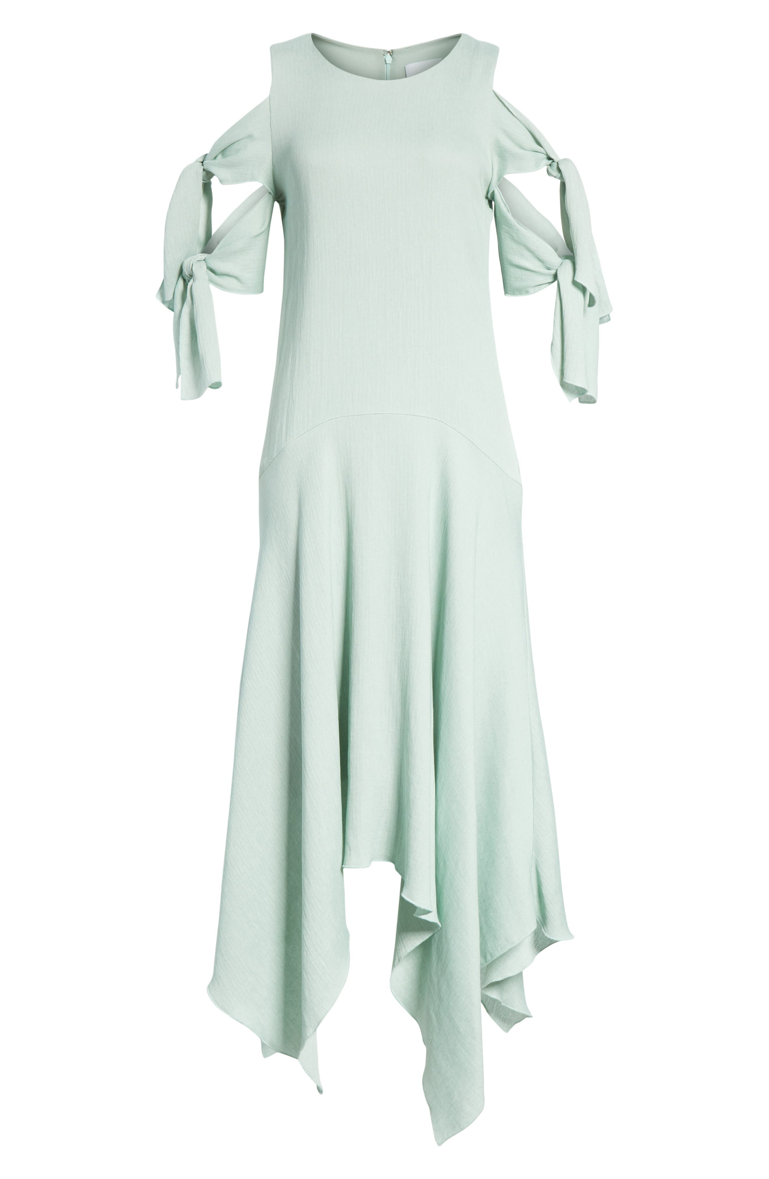 Prose & Poetry Vivianna Drop Waist Midi Dress,                             Alternate thumbnail 6, color,                             Aqua Foam