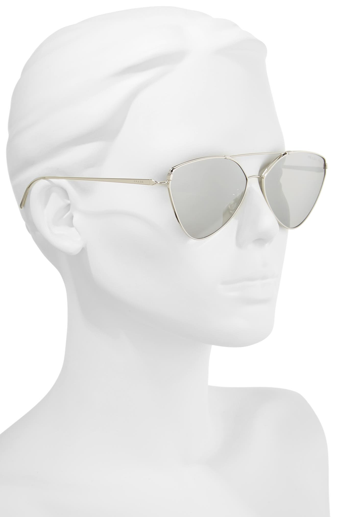 Alternate Image 2  - Prada 62mm Polarized Oversize Aviator Sunglasses