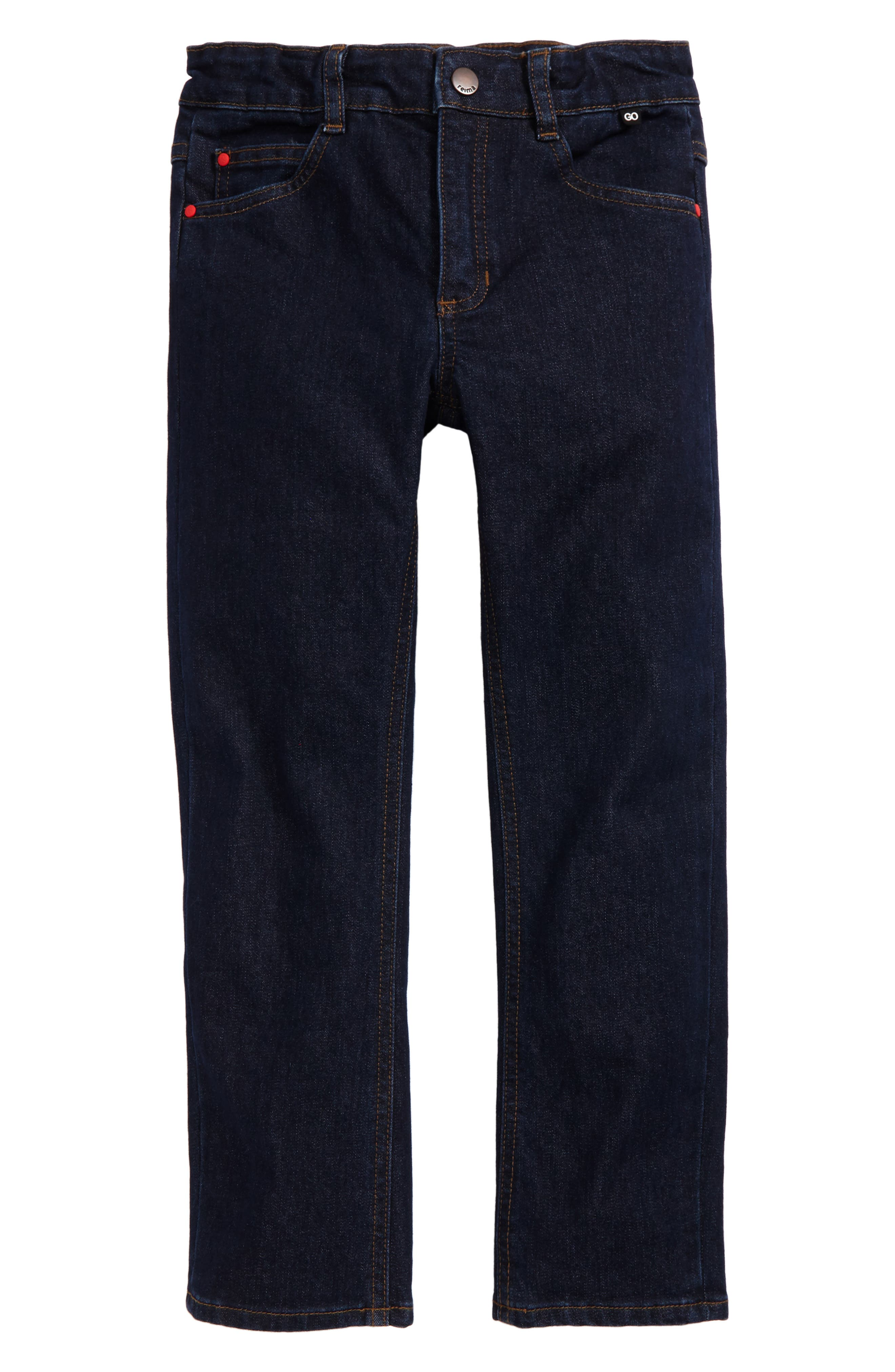 Trick Straight Leg Jeans,                         Main,                         color, Navy