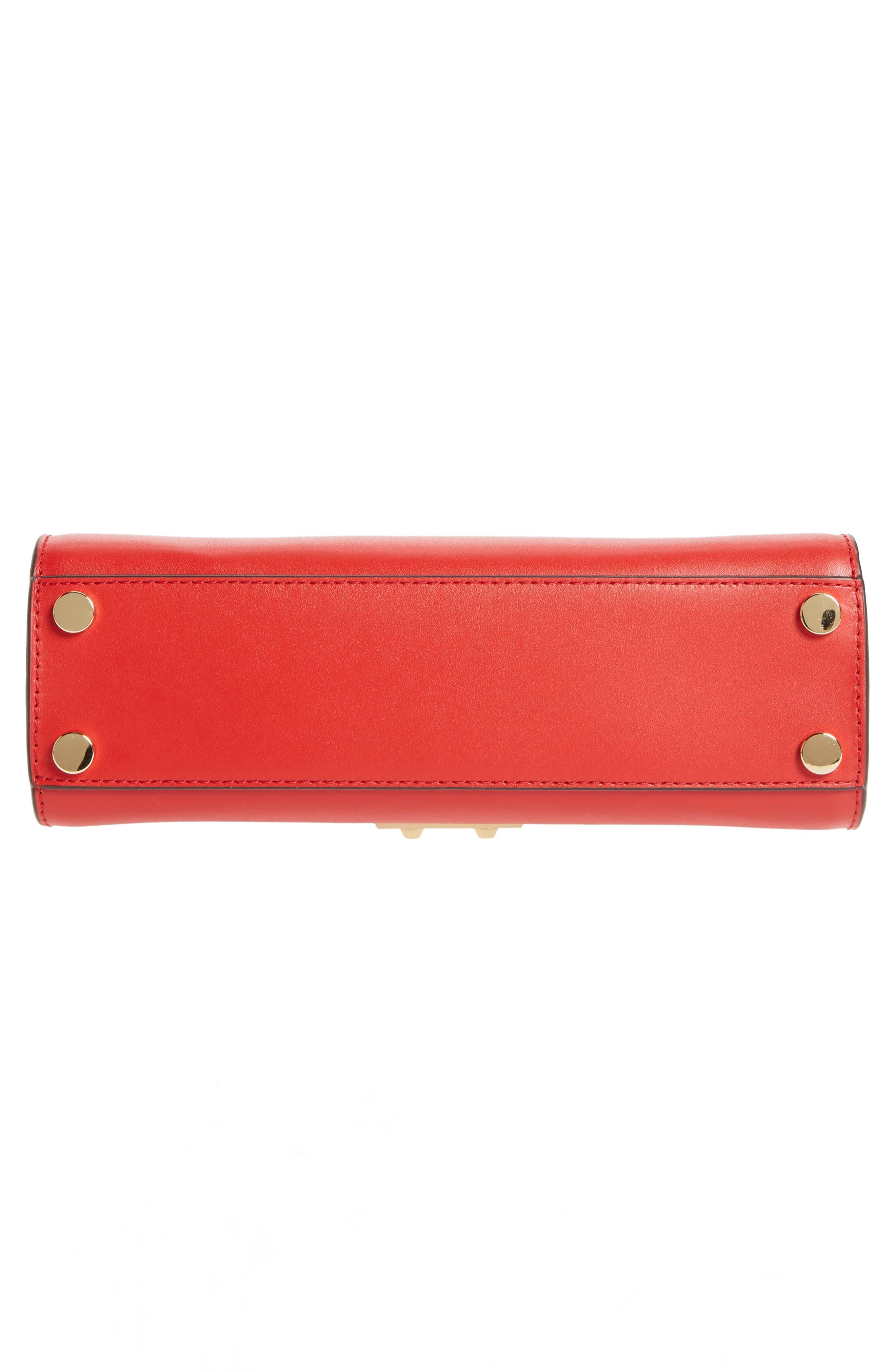 MICHAEL Michael Kors Medium Sloan Leather Satchel,                             Alternate thumbnail 6, color,                             Bright Red