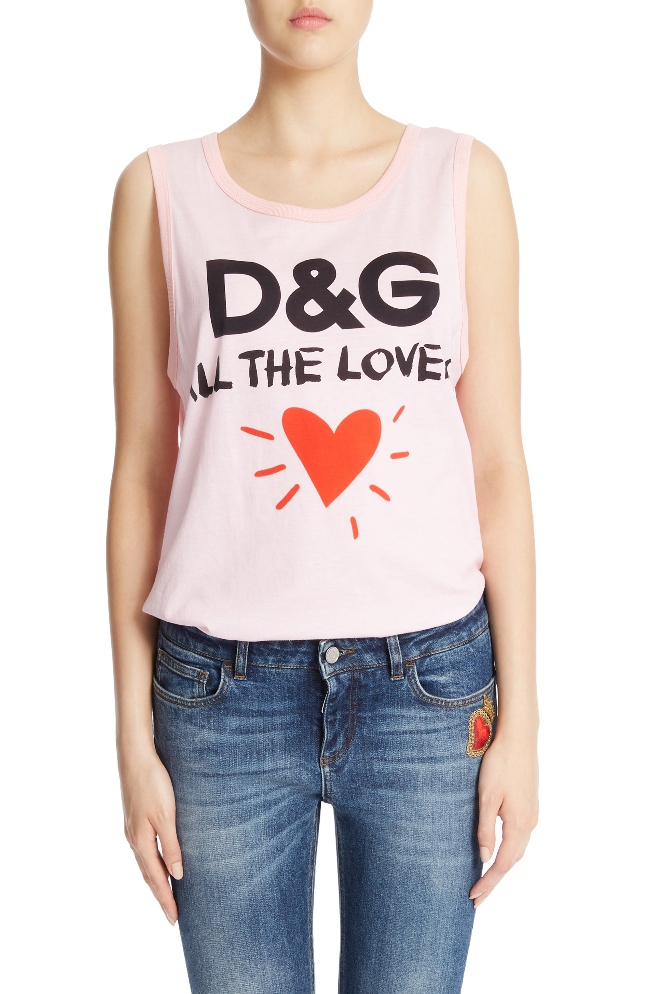 Dolce&Gabbana Lovers Graphic Tank Top